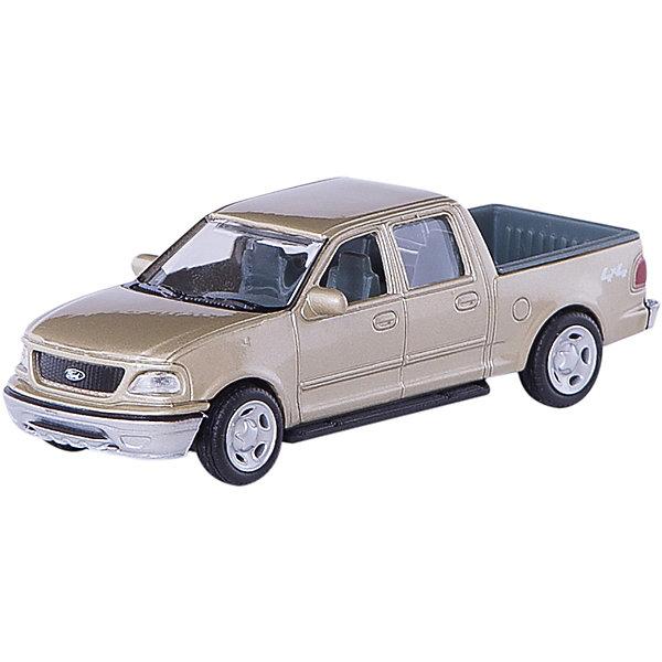Машинка Ford F-150 Supercrew 1:43, AutotimeМашинки<br>Характеристики товара:<br><br>• цвет: в ассортименте<br>• возраст: от 3 лет<br>• материал: металл, пластик<br>• масштаб: 1:43<br>• колеса вращаются<br>• размер упаковки: 16х6х7 см<br>• вес с упаковкой: 100 г<br>• страна бренда: Россия, Китай<br>• страна изготовитель: Китай<br><br>Такая машинка представляет собой миниатюрную копию реально существующей модели. Она отличается высокой детализацией, является коллекционной моделью. <br><br>Сделана машинка из прочного и безопасного материала. Корпус - из металла. Благодаря прозрачным стеклам виден подробно проработанный салон.<br><br>Машинку «Ford F-150 Supercrew» 1:43, Autotime (Автотайм) можно купить в нашем интернет-магазине.<br><br>Ширина мм: 165<br>Глубина мм: 57<br>Высота мм: 75<br>Вес г: 13<br>Возраст от месяцев: 36<br>Возраст до месяцев: 2147483647<br>Пол: Мужской<br>Возраст: Детский<br>SKU: 5584098