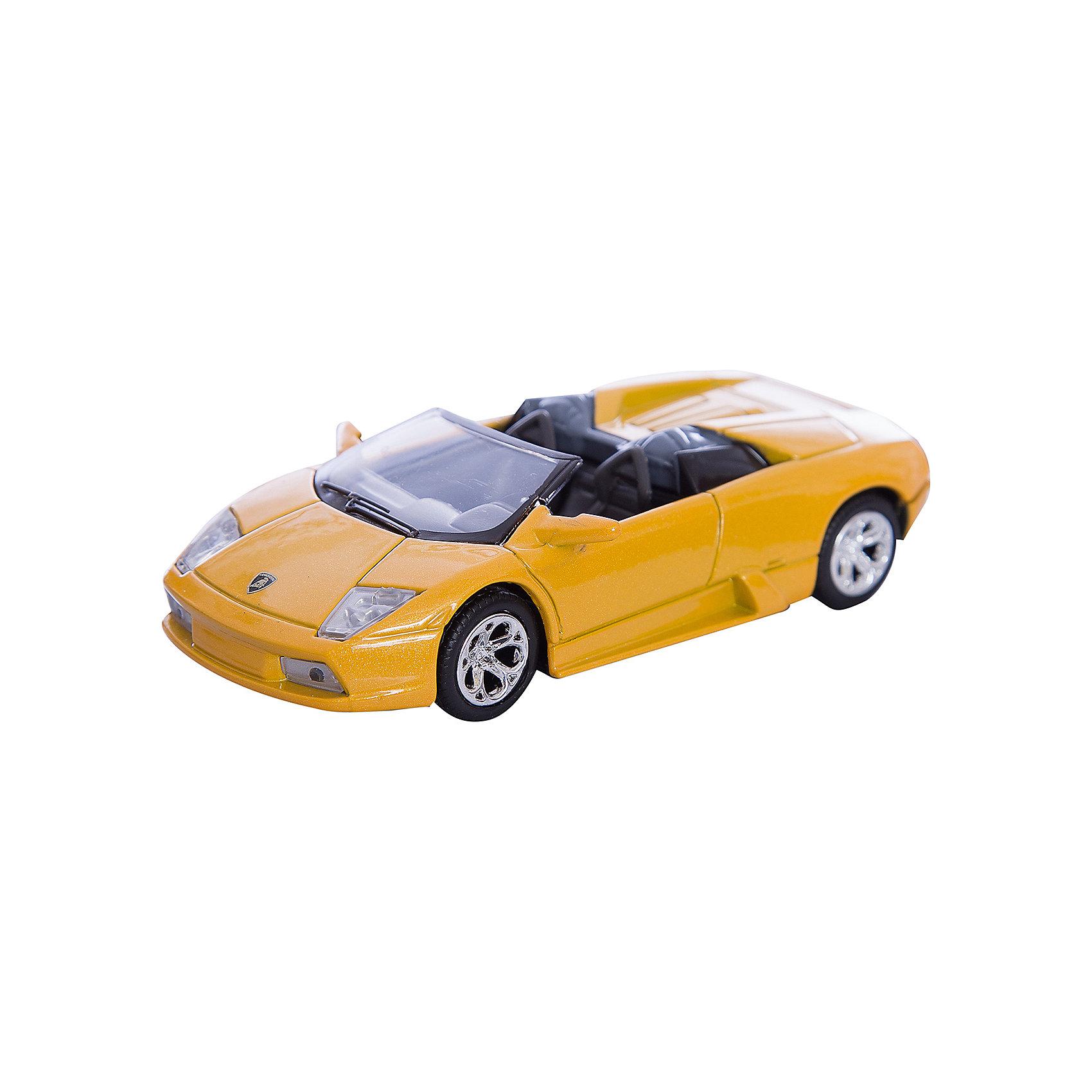 Машинка Lamborghini Murcielago Roadster 1:43, AutotimeМашинки<br>Характеристики товара:<br><br>• цвет: в ассортименте<br>• возраст: от 3 лет<br>• материал: металл, пластик<br>• масштаб: 1:43<br>• колеса вращаются<br>• размер упаковки: 16х6х7 см<br>• вес с упаковкой: 100 г<br>• страна бренда: Россия, Китай<br>• страна изготовитель: Китай<br><br>Эта коллекционная модель машинки отличается высокой детализацией. Окна - прозрачные, поэтому через них можно увидеть салон.<br><br>Машинка произведена из прочного и безопасного материала. <br><br>Машинку «Lamborghini Murcielago Roadster», 1:43, Autotime (Автотайм) можно купить в нашем интернет-магазине.<br><br>Ширина мм: 165<br>Глубина мм: 57<br>Высота мм: 75<br>Вес г: 13<br>Возраст от месяцев: 36<br>Возраст до месяцев: 2147483647<br>Пол: Мужской<br>Возраст: Детский<br>SKU: 5584100