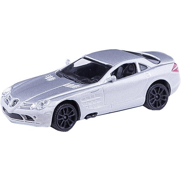Машинка Mercedes-Benz SLR Mclaren 1:43, AutotimeМашинки<br>Характеристики товара:<br><br>• цвет: в ассортименте<br>• возраст: от 3 лет<br>• материал: металл, пластик<br>• масштаб: 1:43<br>• колеса вращаются<br>• размер упаковки: 16х6х7 см<br>• вес с упаковкой: 100 г<br>• страна бренда: Россия, Китай<br>• страна изготовитель: Китай<br><br>Такая машинка представляет собой миниатюрную копию реально существующей модели. Она отличается высокой детализацией, является коллекционной моделью. <br><br>Сделана машинка из прочного и безопасного материала. Корпус - из металла. Благодаря прозрачным стеклам виден подробно проработанный салон.<br><br>Машинку «Mercedes-Benz SLR Mclaren» 1:43, Autotime (Автотайм) можно купить в нашем интернет-магазине.<br>Ширина мм: 165; Глубина мм: 57; Высота мм: 75; Вес г: 13; Возраст от месяцев: 36; Возраст до месяцев: 2147483647; Пол: Мужской; Возраст: Детский; SKU: 5584101;
