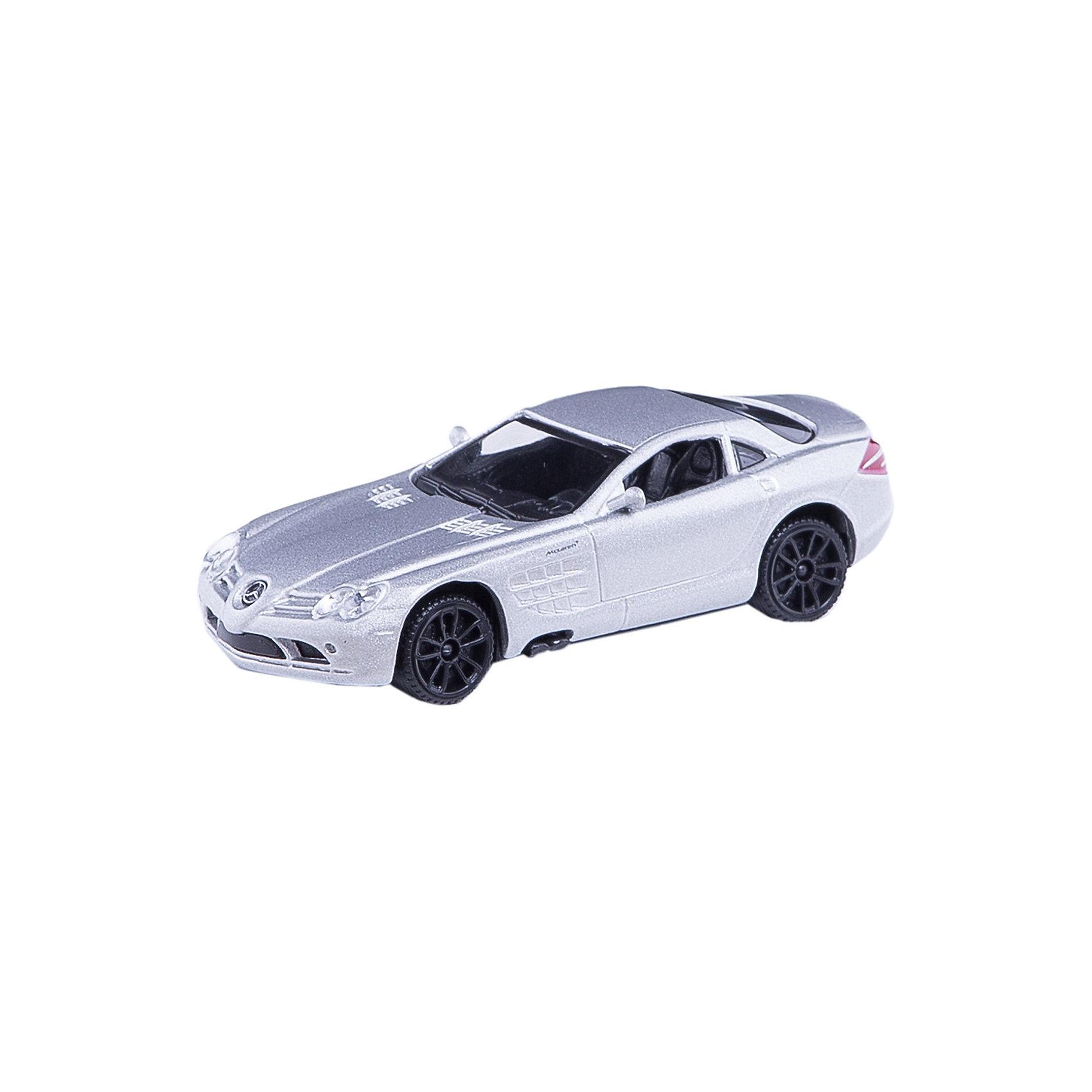 Машинка Mercedes-Benz SLR Mclaren 1:43, AutotimeМашинки<br>Характеристики товара:<br><br>• цвет: в ассортименте<br>• возраст: от 3 лет<br>• материал: металл, пластик<br>• масштаб: 1:43<br>• колеса вращаются<br>• размер упаковки: 16х6х7 см<br>• вес с упаковкой: 100 г<br>• страна бренда: Россия, Китай<br>• страна изготовитель: Китай<br><br>Такая машинка представляет собой миниатюрную копию реально существующей модели. Она отличается высокой детализацией, является коллекционной моделью. <br><br>Сделана машинка из прочного и безопасного материала. Корпус - из металла. Благодаря прозрачным стеклам виден подробно проработанный салон.<br><br>Машинку «Mercedes-Benz SLR Mclaren» 1:43, Autotime (Автотайм) можно купить в нашем интернет-магазине.<br><br>Ширина мм: 165<br>Глубина мм: 57<br>Высота мм: 75<br>Вес г: 13<br>Возраст от месяцев: 36<br>Возраст до месяцев: 2147483647<br>Пол: Мужской<br>Возраст: Детский<br>SKU: 5584101