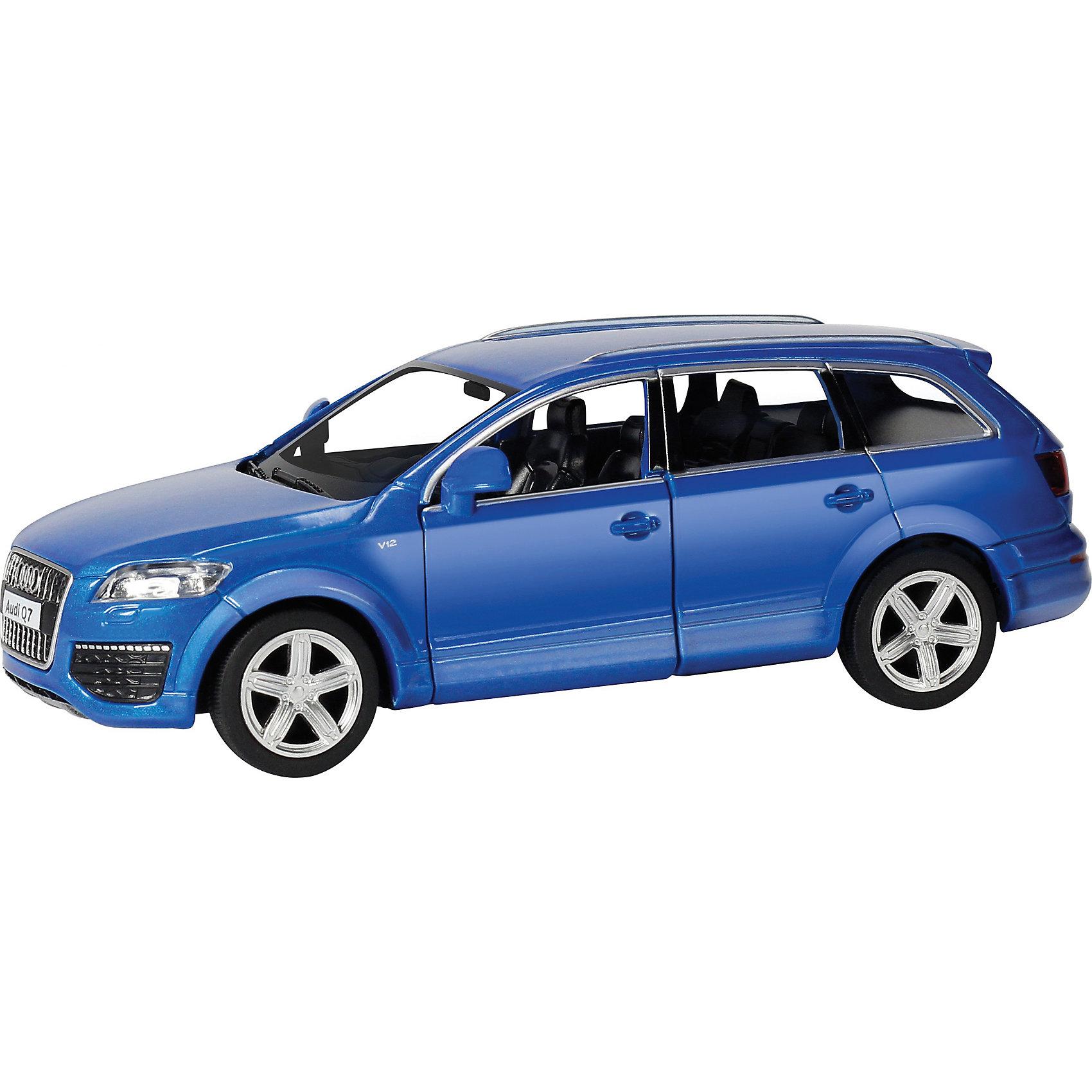 Машинка Audi Q7 V12 5, AutotimeМашинки<br>Характеристики товара:<br><br>• цвет: синий<br>• возраст: от 3 лет<br>• материал: металл, пластик<br>• масштаб: 1:36<br>• двери открываются<br>• размер упаковки: 16х6х7 см<br>• вес с упаковкой: 100 г<br>• страна бренда: Россия, Китай<br>• страна изготовитель: Китай<br><br>Такая машинка представляет собой миниатюрную копию реально существующей модели. Она отличается высокой детализацией, является коллекционной моделью. <br><br>Сделана машинка из прочного и безопасного материала. Корпус - из металла. Благодаря прозрачным стеклам виден подробно проработанный салон.<br><br>Машинку «Audi Q7 V12 5», Autotime (Автотайм) можно купить в нашем интернет-магазине.<br><br>Ширина мм: 165<br>Глубина мм: 57<br>Высота мм: 75<br>Вес г: 13<br>Возраст от месяцев: 36<br>Возраст до месяцев: 2147483647<br>Пол: Мужской<br>Возраст: Детский<br>SKU: 5584103