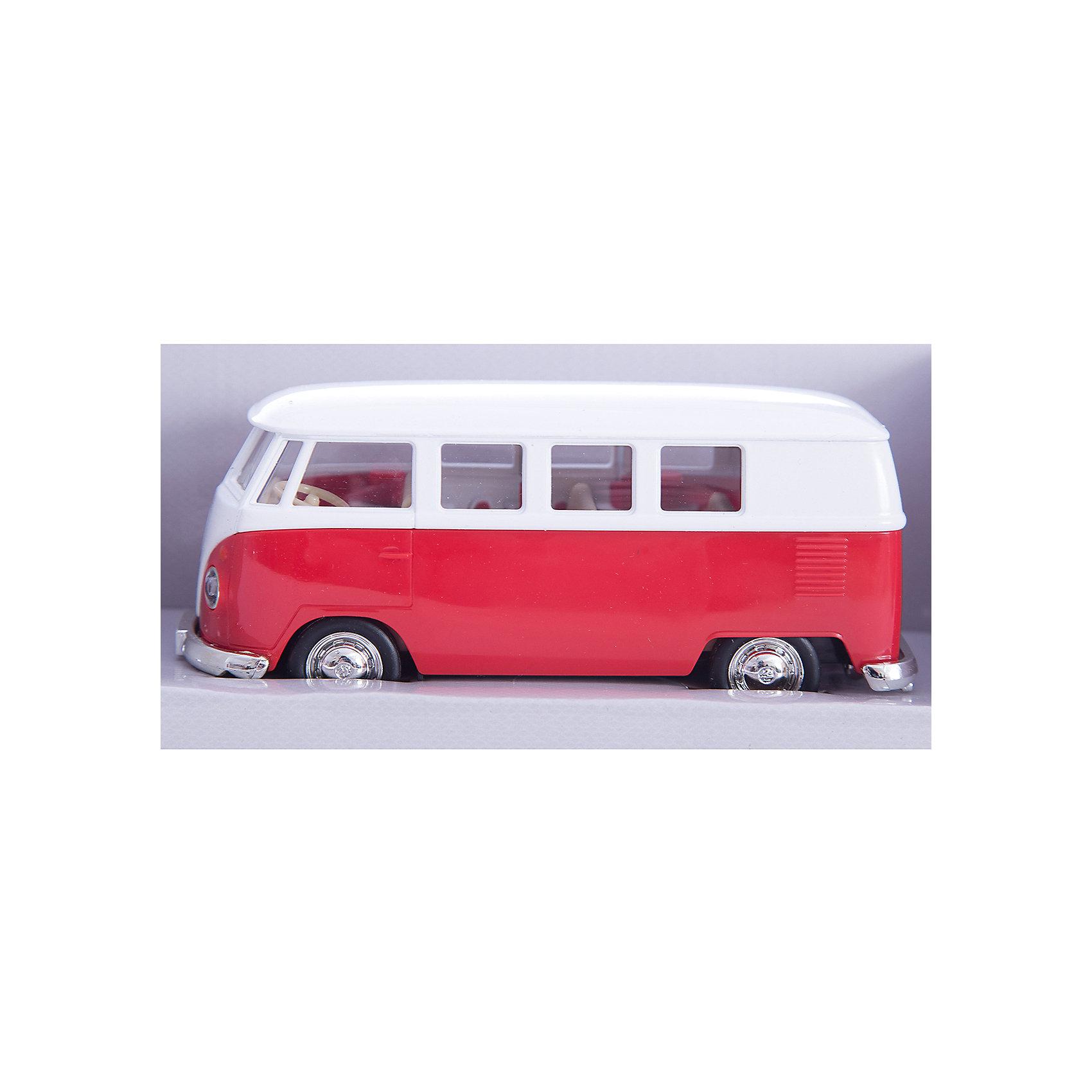 Машинка Volkswagen T1 Transporter 5, AutotimeМашинки<br>Характеристики товара:<br><br>• цвет: оранжевый, красный<br>• возраст: от 3 лет<br>• материал: металл, пластик<br>• масштаб: 1:32<br>• двери открываются<br>• размер упаковки: 16х7х7 см<br>• вес с упаковкой: 100 г<br>• страна бренда: Россия, Китай<br>• страна изготовитель: Китай<br><br>Такая машинка представляет собой миниатюрную копию реально существующей модели. Она отличается высокой детализацией, является коллекционной моделью. <br><br>Сделана машинка из прочного и безопасного материала. Корпус - из металла. <br><br>Машинку «Volkswagen T1 Transporter 5», Autotime (Автотайм) можно купить в нашем интернет-магазине.<br><br>Ширина мм: 165<br>Глубина мм: 57<br>Высота мм: 75<br>Вес г: 13<br>Возраст от месяцев: 36<br>Возраст до месяцев: 2147483647<br>Пол: Мужской<br>Возраст: Детский<br>SKU: 5584111