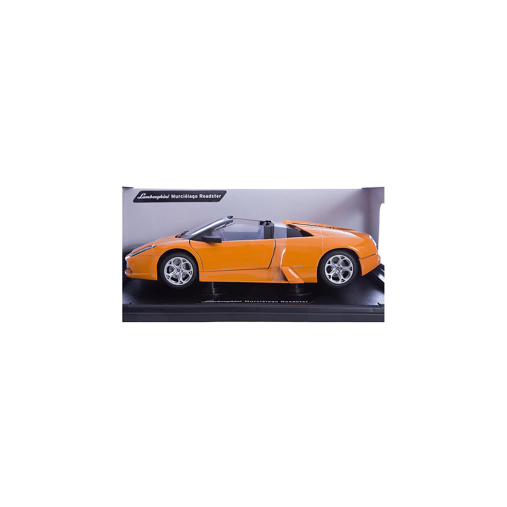 Машинка Lamborghini Murcielago R. 1:18, AutotimeМашинки<br>Характеристики товара:<br><br>• цвет: черный, белый<br>• возраст: от 3 лет<br>• материал: металл, пластик<br>• масштаб: 1:18<br>• колеса поворачиваются<br>• открывается капот и багажник<br>• двери открываются<br>• размер упаковки: 12х31х16 см<br>• вес с упаковкой: 300 г<br>• страна бренда: Россия, Китай<br>• страна изготовитель: Китай<br><br><br>Такая машинка представляет собой миниатюрную копию реально существующей модели. Она отличается высокой детализацией, является коллекционной моделью. <br><br>Сделана машинка из прочного и безопасного металла с добавление пластмассы. Благодаря прозрачным стеклам виден подробно проработанный салон.<br><br>Машинку «Lamborghini Murcielago R.1:18», Autotime (Автотайм) можно купить в нашем интернет-магазине.<br><br>Ширина мм: 350<br>Глубина мм: 158<br>Высота мм: 120<br>Вес г: 15<br>Возраст от месяцев: 36<br>Возраст до месяцев: 2147483647<br>Пол: Мужской<br>Возраст: Детский<br>SKU: 5584119