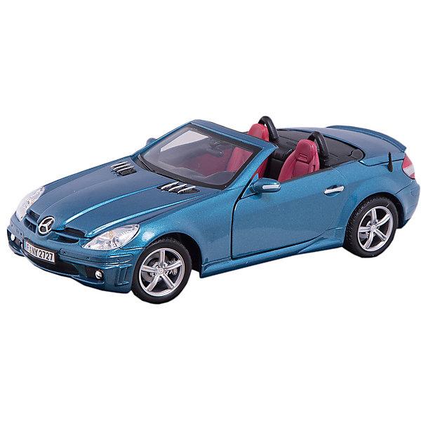 Машинка Mercedes-Benz SLK55 AMG 1:18, AutotimeМашинки<br>Характеристики товара:<br><br>• цвет: черный, белый<br>• возраст: от 3 лет<br>• материал: металл, пластик<br>• масштаб: 1:18<br>• колеса поворачиваются<br>• открывается капот и багажник<br>• двери открываются<br>• размер упаковки: 12х31х16 см<br>• вес с упаковкой: 300 г<br>• страна бренда: Россия, Китай<br>• страна изготовитель: Китай<br><br>Эта модель представляет собой миниатюрную копию реально существующей машины. Она отличается высокой детализацией, является коллекционной моделью. <br><br>Сделана машинка из прочного и безопасного материала. Корпус - из металла. Благодаря прозрачным стеклам виден подробно проработанный салон.<br><br>Машинку «Mercedes-Benz SLK55 AMG 1:18», Autotime (Автотайм) можно купить в нашем интернет-магазине.<br><br>Ширина мм: 350<br>Глубина мм: 158<br>Высота мм: 120<br>Вес г: 15<br>Возраст от месяцев: 36<br>Возраст до месяцев: 2147483647<br>Пол: Мужской<br>Возраст: Детский<br>SKU: 5584120