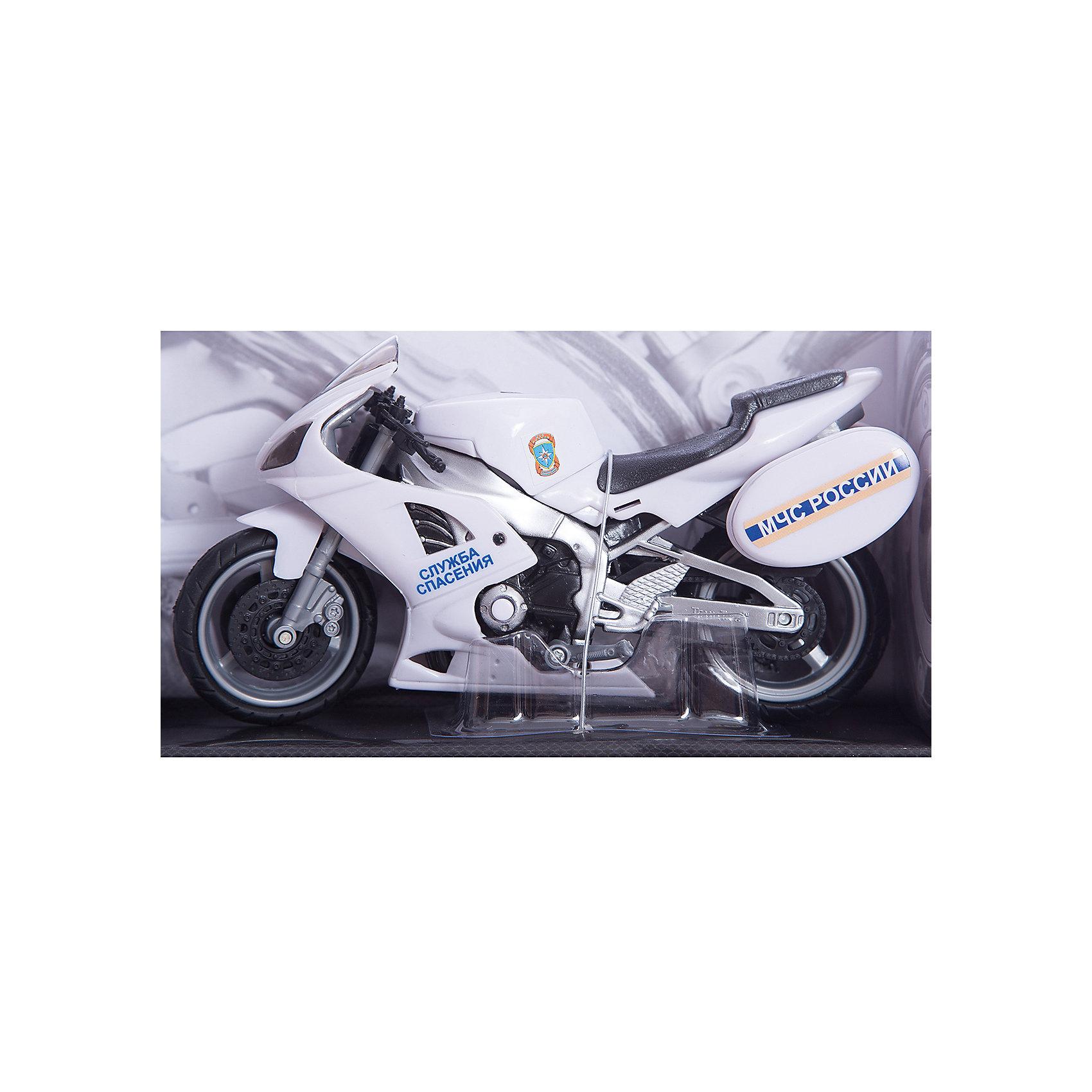 Мотоцикл Emergency Bike МЧС, звук 1:12, AutotimeМашинки<br>Характеристики товара:<br><br>• цвет: белый<br>• возраст: от 3 лет<br>• материал: металл, пластик<br>• масштаб: 1:16<br>• колеса крутятся<br>• инерционная<br>• звуковые эффекты<br>• батарейки: 2 х AG13 / LR44 (миниатюрные)<br>• входят в комплект<br>• размер упаковки: 12х35х16 см<br>• вес с упаковкой: 500 г<br>• страна бренда: Россия, Китай<br>• страна изготовитель: Китай<br><br><br>Такой мотоцикл отличается звуковыми эффектами, которые он издает при его катании. Также стоит отметить высокую степень детализации и инерционный механизм. <br><br>Сделан мотоцикл из прочного и безопасного металла с добавление пластмассы. Работает на батарейках.<br><br>Мотоцикл «Emergency Bike МЧС, звук 1:12», Autotime (Автотайм) можно купить в нашем интернет-магазине.<br><br>Ширина мм: 350<br>Глубина мм: 158<br>Высота мм: 120<br>Вес г: 15<br>Возраст от месяцев: 36<br>Возраст до месяцев: 2147483647<br>Пол: Мужской<br>Возраст: Детский<br>SKU: 5584123