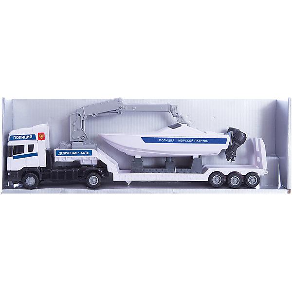 Машинка Scania полиция, с катером 1:48, AutotimeМашинки<br>Характеристики товара:<br><br>• цвет: белый<br>• возраст: от 3 лет<br>• материал: металл, пластик<br>• масштаб: 1:48<br>• колеса крутятся<br>• инерционный механизм<br>• катер в комплекте<br>• размер упаковки: 35х6х11 см<br>• вес с упаковкой: 300 г<br>• страна бренда: Россия, Китай<br>• страна изготовитель: Китай<br><br>Такая машинка представляет собой миниатюрную копию полицейской машины с катером. Она отличается высокой детализацией, является коллекционной моделью. <br><br>Сделана машинка из прочного и безопасного материала. Корпус - из металла и пластика.<br><br>Машинку «Scania полиция, с катером 1:48», Autotime (Автотайм) можно купить в нашем интернет-магазине.<br><br>Ширина мм: 362<br>Глубина мм: 114<br>Высота мм: 146<br>Вес г: 15<br>Возраст от месяцев: 36<br>Возраст до месяцев: 2147483647<br>Пол: Мужской<br>Возраст: Детский<br>SKU: 5584132