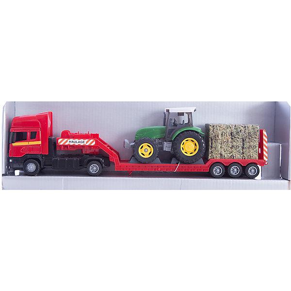 Машинка Scania с трактором 1:48, AutotimeМашинки<br>Характеристики товара:<br><br>• цвет: мульти<br>• возраст: от 3 лет<br>• материал: металл, пластик<br>• масштаб: 1:48<br>• трактор в комплекте<br>• инерционный механизм<br>• колеса вращаются<br>• размер упаковки: 35х6х11 см<br>• вес с упаковкой: 300 г<br>• страна бренда: Россия, Китай<br>• страна изготовитель: Китай<br><br>Такая машинка представляет собой миниатюрную копию грузовой машины с трактором. Она отличается высокой детализацией, является коллекционной моделью. <br><br>Сделана машинка из прочного и безопасного материала. Корпус - из металла и пластика. <br><br>Машинку «Scania с трактором 1:48», Autotime (Автотайм) можно купить в нашем интернет-магазине.<br><br>Ширина мм: 362<br>Глубина мм: 114<br>Высота мм: 146<br>Вес г: 15<br>Возраст от месяцев: 36<br>Возраст до месяцев: 2147483647<br>Пол: Мужской<br>Возраст: Детский<br>SKU: 5584136