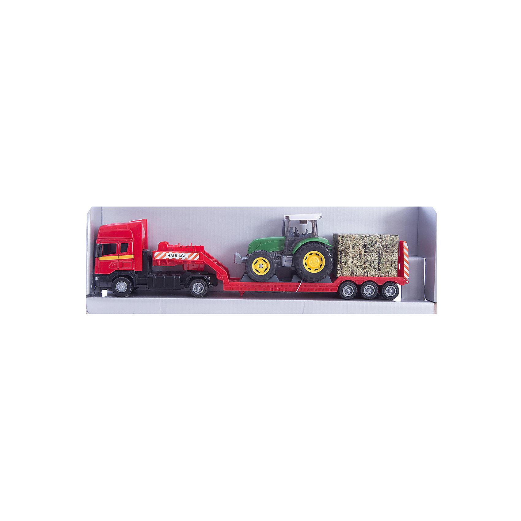 Машинка Scania с трактором 1:48, AutotimeМашинки<br><br><br>Ширина мм: 362<br>Глубина мм: 114<br>Высота мм: 146<br>Вес г: 15<br>Возраст от месяцев: 36<br>Возраст до месяцев: 2147483647<br>Пол: Мужской<br>Возраст: Детский<br>SKU: 5584136
