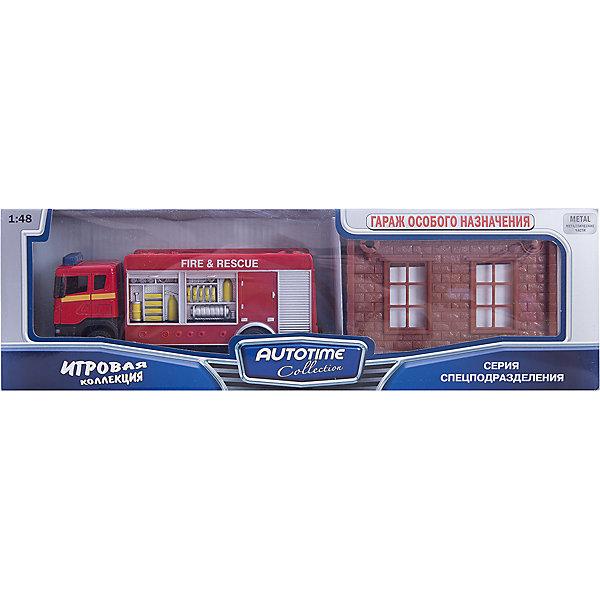 Машинка Scania пожарная с гаражом 1:48, AutotimeМашинки<br>Характеристики товара:<br><br>• цвет: красный<br>• возраст: от 3 лет<br>• материал: металл, пластик<br>• масштаб: 1:48<br>• гараж в комплекте<br>• колеса вращаются<br>• размер упаковки: 35х6х11 см<br>• вес с упаковкой: 300 г<br>• страна бренда: Россия, Китай<br>• страна изготовитель: Китай<br><br>Такая машинка представляет собой миниатюрную копию пожарной машины с гаражом. Она отличается высокой детализацией, является коллекционной моделью. <br><br>Сделана машинка из прочного и безопасного материала. Корпус - из металла и пластика. <br><br>Машинку «Scania пожарная с гаражом 1:48», Autotime (Автотайм) можно купить в нашем интернет-магазине.<br>Ширина мм: 362; Глубина мм: 114; Высота мм: 146; Вес г: 15; Возраст от месяцев: 36; Возраст до месяцев: 2147483647; Пол: Мужской; Возраст: Детский; SKU: 5584142;
