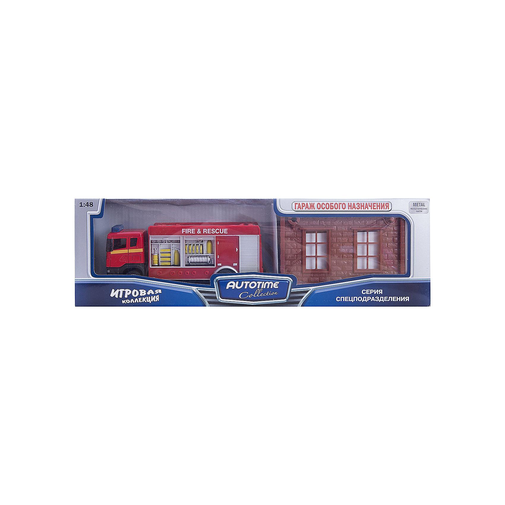 Машинка Scania пожарная с гаражом 1:48, AutotimeМашинки<br>Характеристики товара:<br><br>• цвет: красный<br>• возраст: от 3 лет<br>• материал: металл, пластик<br>• масштаб: 1:48<br>• гараж в комплекте<br>• колеса вращаются<br>• размер упаковки: 35х6х11 см<br>• вес с упаковкой: 300 г<br>• страна бренда: Россия, Китай<br>• страна изготовитель: Китай<br><br>Такая машинка представляет собой миниатюрную копию пожарной машины с гаражом. Она отличается высокой детализацией, является коллекционной моделью. <br><br>Сделана машинка из прочного и безопасного материала. Корпус - из металла и пластика. <br><br>Машинку «Scania пожарная с гаражом 1:48», Autotime (Автотайм) можно купить в нашем интернет-магазине.<br><br>Ширина мм: 362<br>Глубина мм: 114<br>Высота мм: 146<br>Вес г: 15<br>Возраст от месяцев: 36<br>Возраст до месяцев: 2147483647<br>Пол: Мужской<br>Возраст: Детский<br>SKU: 5584142