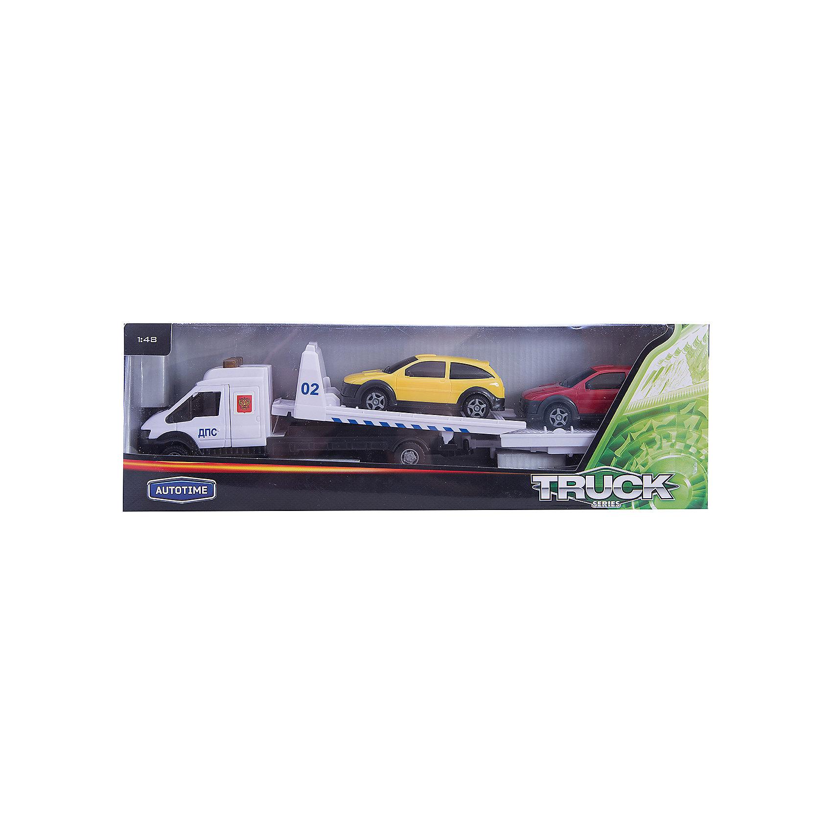 Машинка Recovery Truck Long эвакуатор с прицепом полиция 1:48, AutotimeМашинки<br>Характеристики товара:<br><br>• цвет: красный, белый, желтый<br>• возраст: от 3 лет<br>• материал: металл, пластик<br>• масштаб: 1:48<br>• комплектация: эвакуатор, 2 машинки, прицеп<br>• колеса вращаются<br>• размер упаковки: 25х6х11 см<br>• вес с упаковкой: 300 г<br>• страна бренда: Россия, Китай<br>• страна изготовитель: Китай<br><br>Такая машинка представляет собой миниатюрную копию машины с эвакуатором и набором из двух машинок и прицепа. Она отличается высокой детализацией, является коллекционной моделью. <br><br>Сделана машинка из прочного и безопасного материала. Корпус - из металла и пластика. <br><br>Машинку «Recovery Truck Long эвакуатор с прицепом полиция 1:48», Autotime (Автотайм) можно купить в нашем интернет-магазине.<br><br>Ширина мм: 362<br>Глубина мм: 114<br>Высота мм: 146<br>Вес г: 15<br>Возраст от месяцев: 36<br>Возраст до месяцев: 2147483647<br>Пол: Мужской<br>Возраст: Детский<br>SKU: 5584147