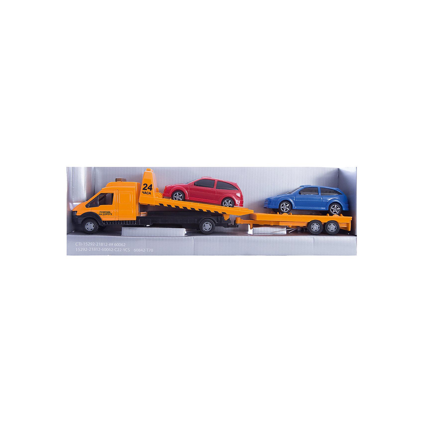 Машинка Recovery Truck Long эвакуатор с прицепом 1:48, AutotimeМашинки<br>Характеристики товара:<br><br>• цвет: красный, синий, желтый<br>• возраст: от 3 лет<br>• материал: металл, пластик<br>• масштаб: 1:48<br>• комплектация: эвакуатор, 2 машинки<br>• инерционная<br>• колеса вращаются<br>• размер упаковки: 25х6х11 см<br>• вес с упаковкой: 300 г<br>• страна бренда: Россия, Китай<br>• страна изготовитель: Китай<br><br>Такая машинка представляет собой миниатюрную копию машины с эвакуатором и набором из двух машинок и прицепа. Она отличается высокой детализацией, является коллекционной моделью. <br><br>Сделана машинка из прочного и безопасного материала. Корпус - из металла и пластика. <br><br>Машинку «Recovery Truck Long эвакуатор с прицепом 1:48», Autotime (Автотайм) можно купить в нашем интернет-магазине.<br><br>Ширина мм: 362<br>Глубина мм: 114<br>Высота мм: 146<br>Вес г: 15<br>Возраст от месяцев: 36<br>Возраст до месяцев: 2147483647<br>Пол: Мужской<br>Возраст: Детский<br>SKU: 5584149