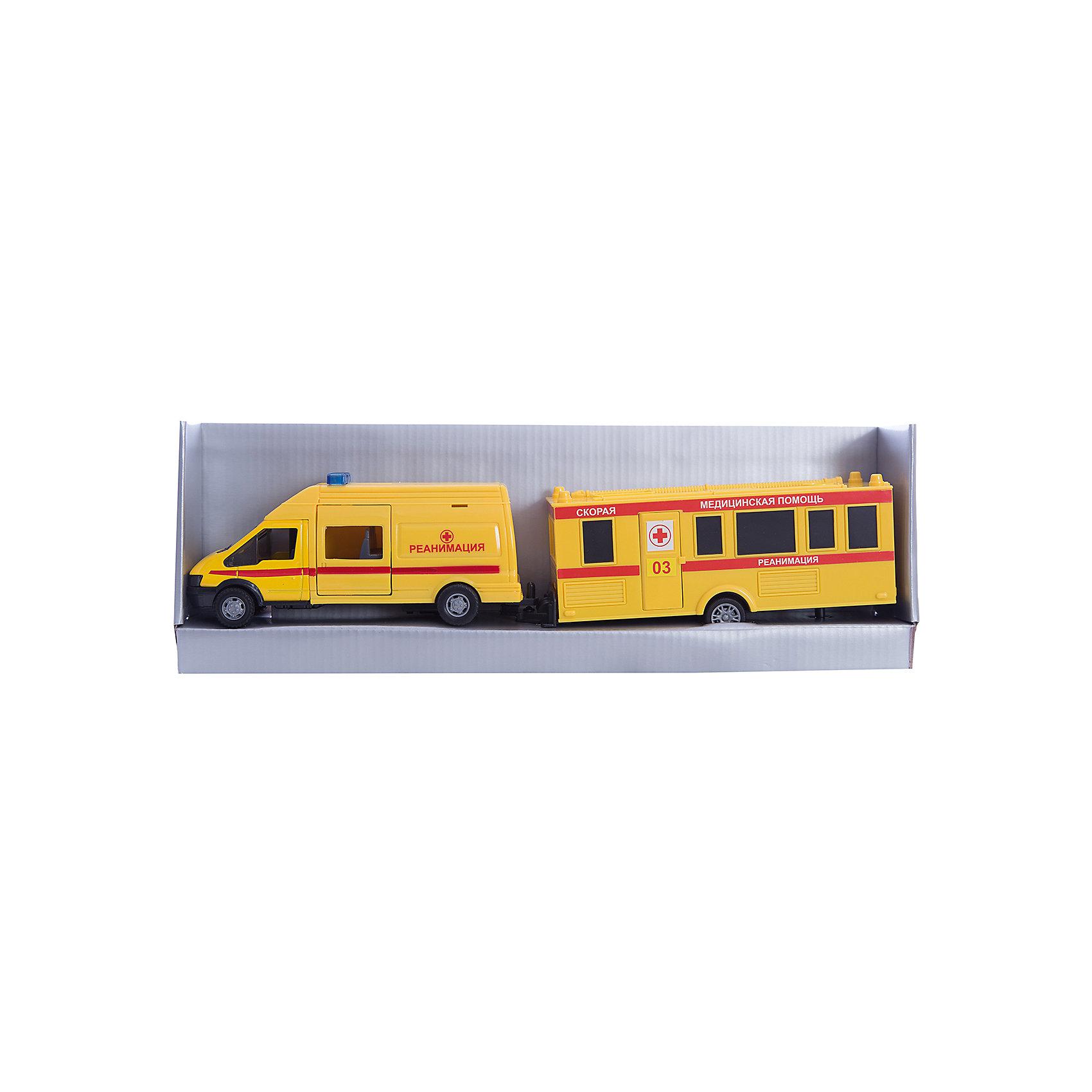 Машинка Rescue Van скорая помощь с прицепом 1:48, AutotimeМашинки<br>Характеристики товара:<br><br>• цвет: желтый<br>• возраст: от 3 лет<br>• материал: металл, пластик<br>• масштаб: 1:48<br>• комплектация: машина, прицеп<br>• инерционная<br>• колеса вращаются<br>• размер упаковки: 35х6х11 см<br>• вес с упаковкой: 300 г<br>• страна бренда: Россия, Китай<br>• страна изготовитель: Китай<br><br>Эта модель представляет собой миниатюрную копию реально существующей машины скорой помощи с прицепом. Она отличается высокой детализацией, является коллекционной моделью. <br><br>Сделана машинка из прочного и безопасного материала. Корпус - из металла и пластика.<br><br>Машинку «Rescue Van скорая помощь с прицепом 1:48», Autotime (Автотайм) можно купить в нашем интернет-магазине.<br><br>Ширина мм: 362<br>Глубина мм: 114<br>Высота мм: 146<br>Вес г: 15<br>Возраст от месяцев: 36<br>Возраст до месяцев: 2147483647<br>Пол: Мужской<br>Возраст: Детский<br>SKU: 5584151