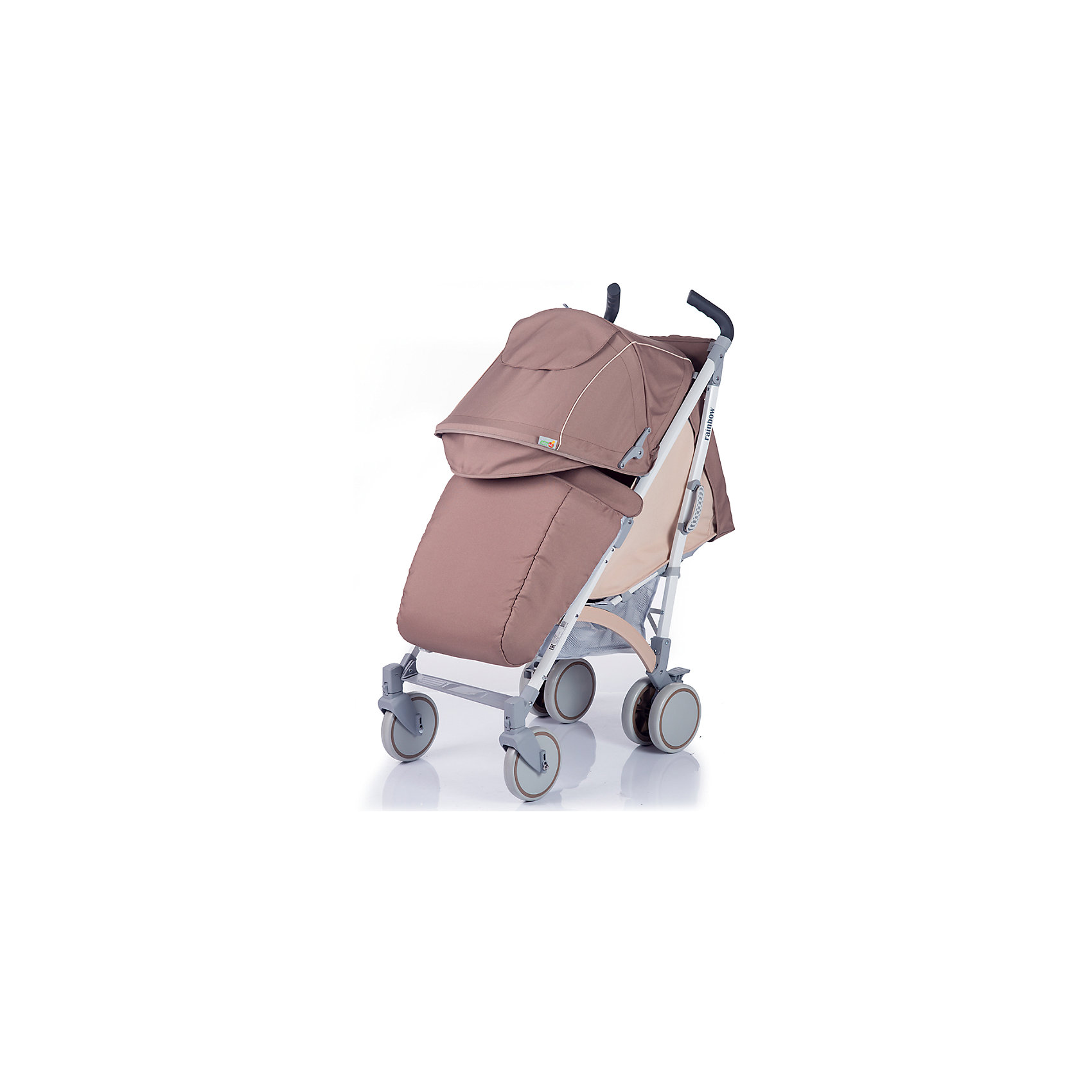 Коляска-трость BabyHit Rainbow, бежевыйКоляски-трости<br>Обновленная коляска-трость Babyhit Rainbow:<br><br>Прогулочная коляска-трость предназначена для детей от 6-ти месяцев до 3-х лет.<br>Спинка сиденья регулируется в 3-х положениях для комфортного отдыха ребенка.<br>5-ти точечные ремни безопасности с мягкими плечевыми накладками и паховый ремень надежно удержат малыша на прогулке.<br>Бампер предназначен для дополнительной безопасности, снимается при необходимости.<br>Подножка регулируемая.<br>Капюшон-батискаф опускается до бампера.<br>Передние поворотные колеса с возможностью фиксации в положении прямо.<br>Все колеса амортизированы.<br>В сложенном виде коляску легко переносить с помощью удобной ручки.<br>Коляска автоматически блокируется при складывании.<br>Корзинка для покупок расположена в нижней части коляски.<br>Размеры коляски в разложенном виде: 85/43/108 см.<br>Ширина сиденья: 35 см.<br>Высота спинки: 47 см.<br>Глубина сиденья: 25 см.<br>Длина подножки: 13 см.<br>Размер спального места при поднятой подножке - 85 х 35 см.  <br>Диаметр колес: 18 см.<br>Вес коляски - 7,4 кг.<br>В комплекте:<br>Чехол для ножек. <br>Дождевик.<br>Москитная сетка.<br>Корзинка для покупок.<br>Сумочка на ручках<br>Отличительные особенности обновленной Babyhit Rainbow: увеличенный по длине полог, полностью съемная ткань (чехол), эргономичные полиуретановые ручки.<br><br>Ширина мм: 260<br>Глубина мм: 250<br>Высота мм: 900<br>Вес г: 10000<br>Возраст от месяцев: 6<br>Возраст до месяцев: 36<br>Пол: Унисекс<br>Возраст: Детский<br>SKU: 5584576