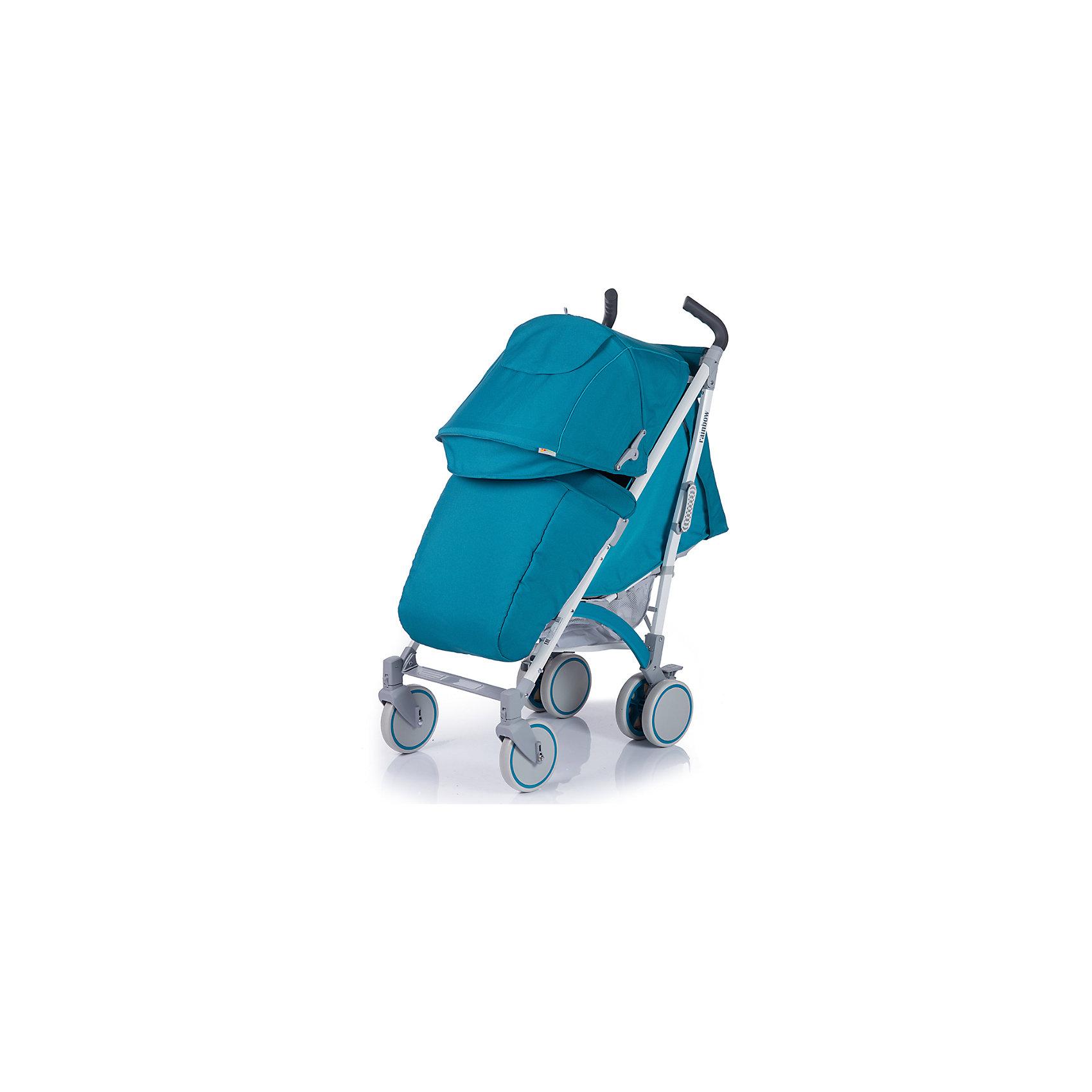 Коляска-трость Rainbow, Baby Hit, бирюзовыйОбновленная коляска-трость Babyhit Rainbow:<br><br>Прогулочная коляска-трость предназначена для детей от 6-ти месяцев до 3-х лет.<br>Спинка сиденья регулируется в 3-х положениях для комфортного отдыха ребенка.<br>5-ти точечные ремни безопасности с мягкими плечевыми накладками и паховый ремень надежно удержат малыша на прогулке.<br>Бампер предназначен для дополнительной безопасности, снимается при необходимости.<br>Подножка регулируемая.<br>Капюшон-батискаф опускается до бампера.<br>Передние поворотные колеса с возможностью фиксации в положении прямо.<br>Все колеса амортизированы.<br>В сложенном виде коляску легко переносить с помощью удобной ручки.<br>Коляска автоматически блокируется при складывании.<br>Корзинка для покупок расположена в нижней части коляски.<br>Размеры коляски в разложенном виде: 85/43/108 см.<br>Ширина сиденья: 35 см.<br>Высота спинки: 47 см.<br>Глубина сиденья: 25 см.<br>Длина подножки: 13 см.<br>Размер спального места при поднятой подножке - 85 х 35 см.  <br>Диаметр колес: 18 см.<br>Вес коляски - 7,4 кг.<br>В комплекте:<br>Чехол для ножек. <br>Дождевик.<br>Москитная сетка.<br>Корзинка для покупок.<br>Сумочка на ручках<br>Отличительные особенности обновленной Babyhit Rainbow: увеличенный по длине полог, полностью съемная ткань (чехол), эргономичные полиуретановые ручки.<br><br>Ширина мм: 260<br>Глубина мм: 250<br>Высота мм: 900<br>Вес г: 10000<br>Возраст от месяцев: 6<br>Возраст до месяцев: 36<br>Пол: Унисекс<br>Возраст: Детский<br>SKU: 5584577