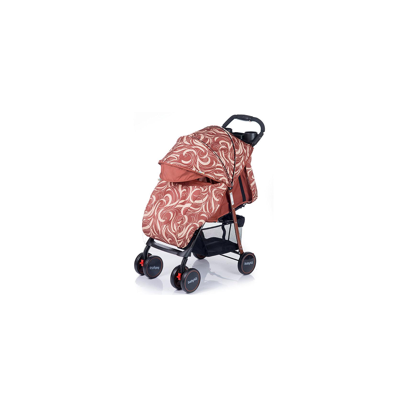 Прогулочная коляска BabyHit Simpy, коричневыйНедорогие коляски<br>Новинка 2017 года!<br>Легкая прогулочная коляска.<br>Сдвоенные передние колеса с функцией фиксации в положении «прямо»<br>Складывание одной рукой<br>Капюшон «батискаф»<br>3 положения наклона спинки (сидя, полулежа, лежа)<br>Регулируемая подножка<br>Съемный поручень с паховым ремнем<br>3-х точечная система ремней безопасности<br>Столик с подстаканниками и бардачком на ручке<br>Вместительная багажная корзина<br>Амортизация на всех колесах<br>В комплекте: полог, москитная сетка<br><br>Характеристика:<br>Размеры в разложенном виде: 76 х 46 х 101 см (ДхШхВ)<br>Размеры в сложенном виде: 83 х 46 х 34 см (ДхШхВ)<br>Размер спального места: 68х32 см (ДхШ)<br>Ширина сиденья: 32 см<br>Длина сиденья:  20 см<br>Высота спинки:  39 см<br>Высота до ручки: 101 см<br>Диаметр колес: 15 см<br><br>Ширина мм: 420<br>Глубина мм: 250<br>Высота мм: 800<br>Вес г: 6980<br>Возраст от месяцев: 6<br>Возраст до месяцев: 36<br>Пол: Унисекс<br>Возраст: Детский<br>SKU: 5584580