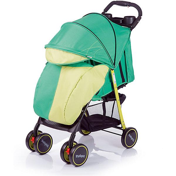 Прогулочная коляска BabyHit Simpy, зеленыйНедорогие коляски<br>Новинка 2017 года!<br>Легкая прогулочная коляска.<br>Сдвоенные передние колеса с функцией фиксации в положении «прямо»<br>Складывание одной рукой<br>Капюшон «батискаф»<br>3 положения наклона спинки (сидя, полулежа, лежа)<br>Регулируемая подножка<br>Съемный поручень с паховым ремнем<br>3-х точечная система ремней безопасности<br>Столик с подстаканниками и бардачком на ручке<br>Вместительная багажная корзина<br>Амортизация на всех колесах<br>В комплекте: полог, москитная сетка<br><br>Характеристика:<br>Размеры в разложенном виде: 76 х 46 х 101 см (ДхШхВ)<br>Размеры в сложенном виде: 83 х 46 х 34 см (ДхШхВ)<br>Размер спального места: 68х32 см (ДхШ)<br>Ширина сиденья: 32 см<br>Длина сиденья:  20 см<br>Высота спинки:  39 см<br>Высота до ручки: 101 см<br>Диаметр колес: 15 см<br><br>Ширина мм: 420<br>Глубина мм: 250<br>Высота мм: 800<br>Вес г: 6980<br>Возраст от месяцев: 6<br>Возраст до месяцев: 36<br>Пол: Унисекс<br>Возраст: Детский<br>SKU: 5584581