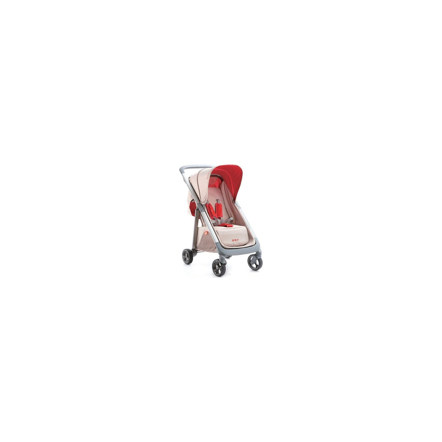 Прогулочная коляска C1020, Geoby, бежевый/красныйПрогулочная коляска GB C1020 идеально подходит для повседневных прогулок и похода по магазинам всей семьей. Компактная, легкая коляска для детей возрасте от 7-ми месяцев до 3-х лет. Для достижения оптимального комфорта при езде вы можете регулировать подставку для ног и спинку до положения полулежа. Система 5-точечных ремней и стояночный тормоз гарантируют высокий уровень безопасности. Корзина для покупок имеет высокие борта, вместительна и удобна. Коляска отличается плавностью хода. В комплекте дождевик на случай непогоды. <br>Характеристика:<br>Алюминиевая рама<br>Плавная регулировка положений спинки<br>Регулируемая подножка<br>Смотровое окно на тенте<br>Поворотные передние колеса с фиксаторами<br>Система ремней безопасности<br>Устойчивость в сложенном виде<br>Багажная корзина.<br>В комплекте: дождевик.<br>Ширина коляски: 47 см.<br>Диаметр колес: 14 см.<br>Вес коляски: 8,7 кг.<br><br>Ширина мм: 520<br>Глубина мм: 390<br>Высота мм: 845<br>Вес г: 8700<br>Возраст от месяцев: 7<br>Возраст до месяцев: 36<br>Пол: Унисекс<br>Возраст: Детский<br>SKU: 5584596