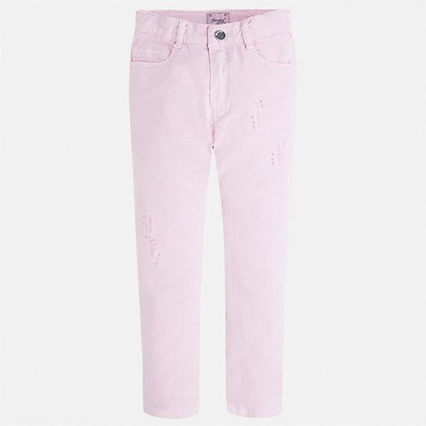 Брюки для девочки MayoralБрюки<br>Характеристики товара:<br><br>• цвет: розовый<br>• состав: 98% хлопок, 2% эластан<br>• шлевки<br>• карманы<br>• пояс с регулировкой объема<br>• прямой силуэт<br>• коллекция: весна-лето 2017<br>• страна бренда: Испания<br><br>Модные легкие брюки для девочки смогут разнообразить гардероб ребенка и украсить наряд. Интересный крой модели делает её нарядной и оригинальной. <br><br>Брюки для девочки от испанского бренда Mayoral (Майорал) можно купить в нашем интернет-магазине.<br><br>Ширина мм: 215<br>Глубина мм: 88<br>Высота мм: 191<br>Вес г: 336<br>Цвет: лиловый<br>Возраст от месяцев: 24<br>Возраст до месяцев: 36<br>Пол: Женский<br>Возраст: Детский<br>Размер: 98,122,116,110,104<br>SKU: 5587452