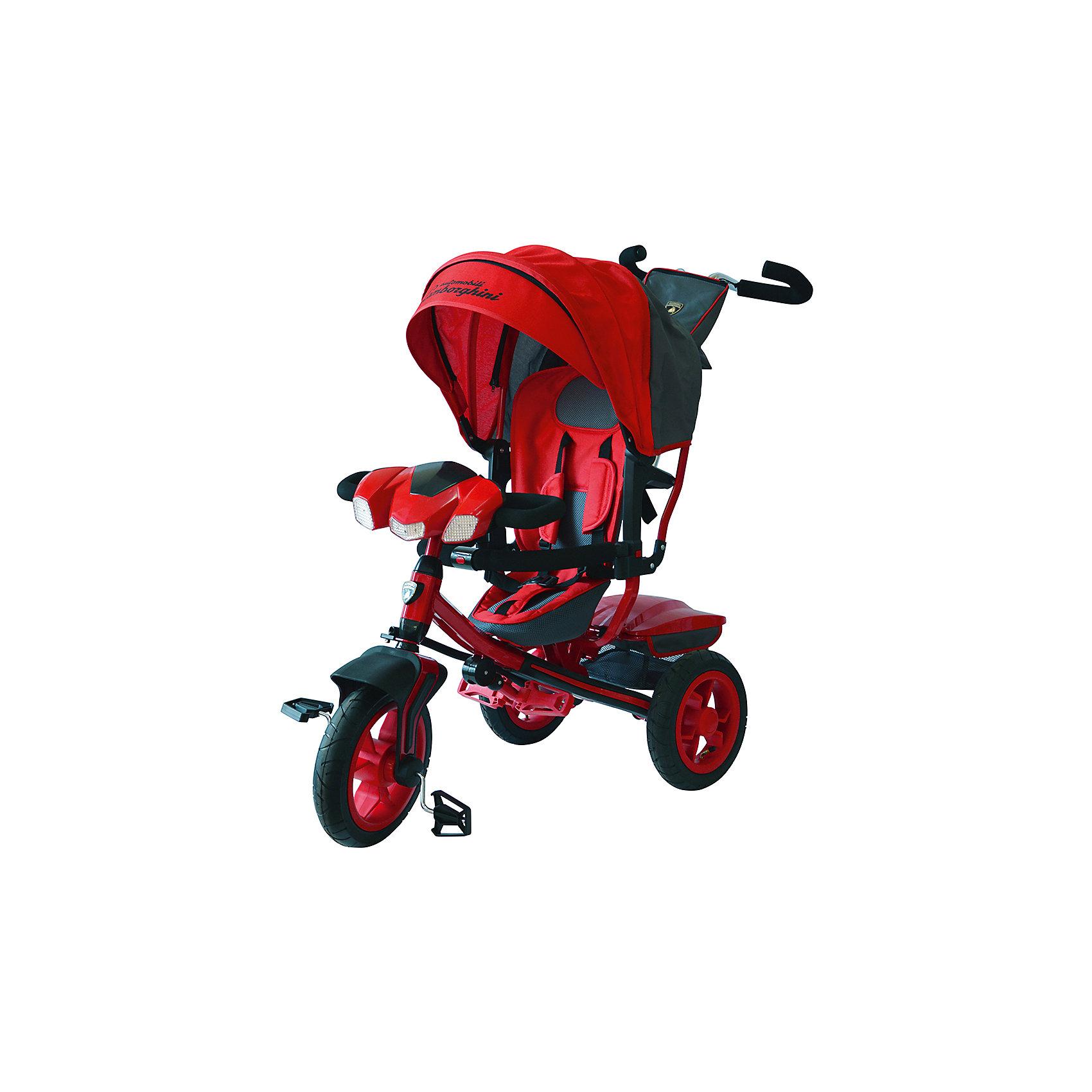 Трехколесный велосипед L3R, LamborghiniВелосипеды детские<br>Характеристики товара:<br><br>• цвет: красный<br>• рама: пятиугольная<br>• возраст: от 12 мес<br>• тормоза: стояночные, на задних колёсах<br>• багажник: пластиковый, с крышкой<br>• материал рамы:сталь<br>• каплевидный руль с мягкими поролоновыми вставками<br>• переднее колесо с функцией свободного хода<br>• родительская ручка<br>• размеры: 66,5x42x38 см.<br>• колёса: 12/2x10, надувные<br>• все: 15 кг.<br>• максимальная нагрузка: 30 кг.<br><br>Прочная пятиугольная металлическая рама с пластиковыми накладками, широким передним брызговиком и дополнительными складными подножками для самых маленьких.<br><br>Передняя вилка изогнута в обратную сторону, усовершенствование конструкции упрощает сборку велосипеда.<br><br>Сидение с мягкой спинкой для максимального комфорта малыша и ремнём безопасности с пятью точками соприкосновения может быть установлено в три наклонных положения.<br><br>Крыша с отстёгивающимся солнцезащитным козырьком не имеет защёлок, фиксируется в любом положении и имеет окошко для наблюдения за ребёнком.<br><br>Родительская ручка ручка с современным антискользящим покрытием, закруглёнными держателями, возможностью регулировки по высоте и сумкой с лицензионным логотипом.<br><br>Фронтальная фара повторяет формы автомобиля Lamborghini, легко включается кнопкой. Боковые фары-поворотники мигают при совершении манёвров. В таком велосипедом малыш будет наслаждаться прогулкой.<br><br>Трехколесный велосипед L3R, Lamborghini можно купить в нашем интернет-магазине.<br><br>Ширина мм: 665<br>Глубина мм: 380<br>Высота мм: 420<br>Вес г: 16500<br>Возраст от месяцев: 12<br>Возраст до месяцев: 36<br>Пол: Унисекс<br>Возраст: Детский<br>SKU: 5587517