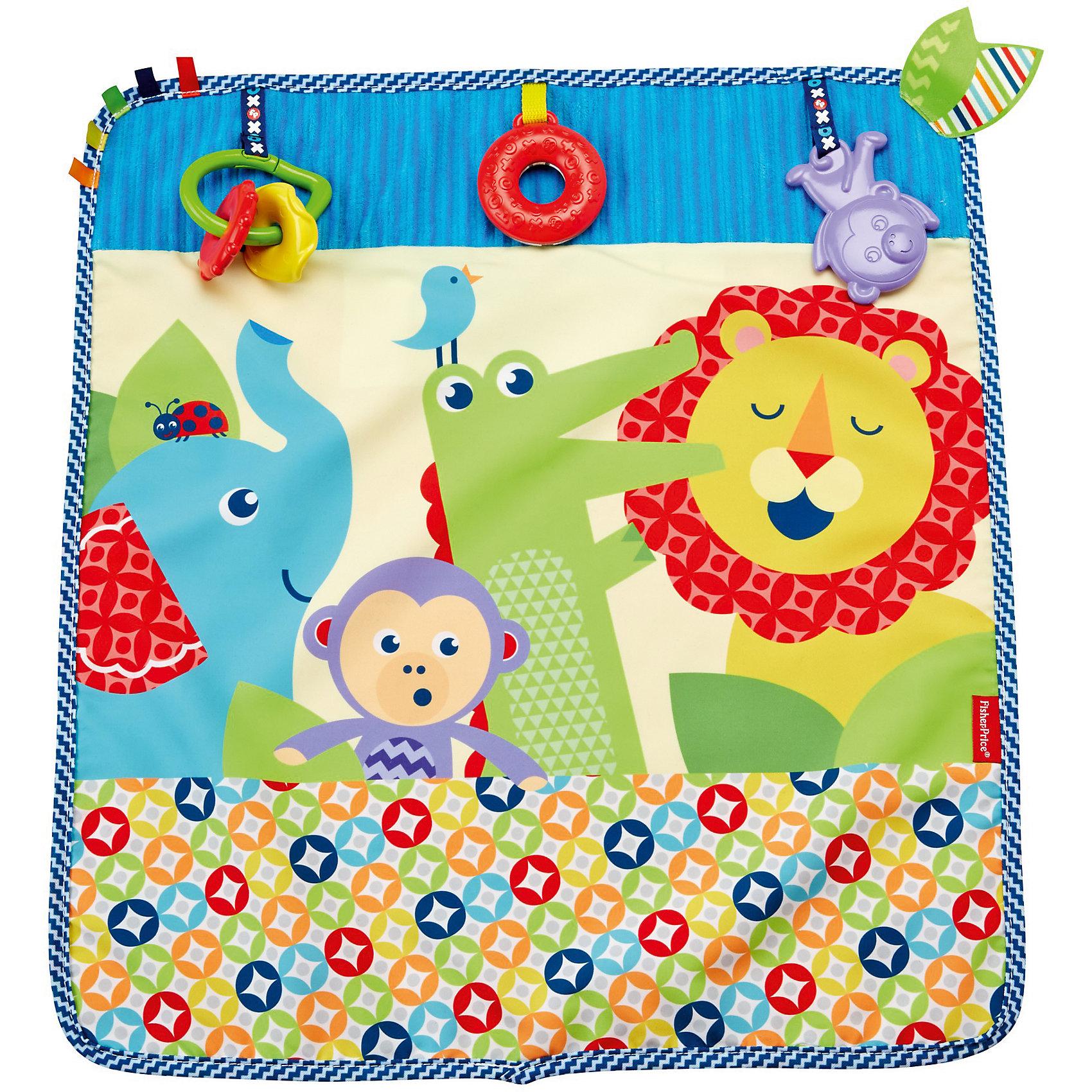Мягкое одеяло Fisher-Price «Пойдем на прогулку»Развивающие коврики<br>Характеристики товара:<br><br>• возраст: с рождения<br>• материал: текстиль<br>• размер одеялка: 40х60 см;<br>• страна бренда: США<br><br>Яркая расцветка и комбинация разных текстур, которые так интересно пробовать на ощупь, а также три игрушки: малыш сможет долго исследовать это одеяло, и оно ему точно не наскучит. <br><br>Матерчатый держатель позволит надежно прикрепить одеяло к коляске: вам не придется беспокоиться, что оно упадет, когда вы отправитесь вместе со своим малышом на прогулку!<br><br>Мягкое одеяло Fisher-Price «Пойдем на прогулку» можно купить в нашем интернет-магазине.<br><br>Ширина мм: 289<br>Глубина мм: 258<br>Высота мм: 60<br>Вес г: 420<br>Возраст от месяцев: 0<br>Возраст до месяцев: 18<br>Пол: Женский<br>Возраст: Детский<br>SKU: 5587630
