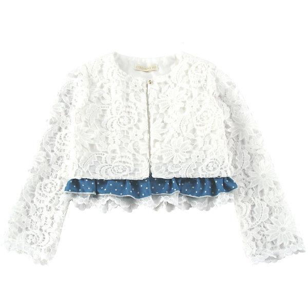Куртка для девочки WojcikВерхняя одежда<br>Характеристики товара:<br><br>• цвет: белый<br>• состав ткани: 100% полиэстер <br>• сезон: демисезон<br>• особенности модели: нарядная<br>• застежка: молния<br>• длинные рукава<br>• страна бренда: Польша<br>• страна изготовитель: Польша<br><br>Белая легкая куртка для девочки Войчик отличается модным кроем и всегда актуальным цветом. Детская куртка декорирована рюшами по низу. Эта куртка для детей - удобная и стильная. Польская детская одежда для детей от бренда Wojcik - это качественные и стильные вещи. <br><br>Куртку для девочки Wojcik (Войчик) можно купить в нашем интернет-магазине.<br>Ширина мм: 356; Глубина мм: 10; Высота мм: 245; Вес г: 519; Цвет: белый; Возраст от месяцев: 60; Возраст до месяцев: 72; Пол: Женский; Возраст: Детский; Размер: 116; SKU: 5588208;