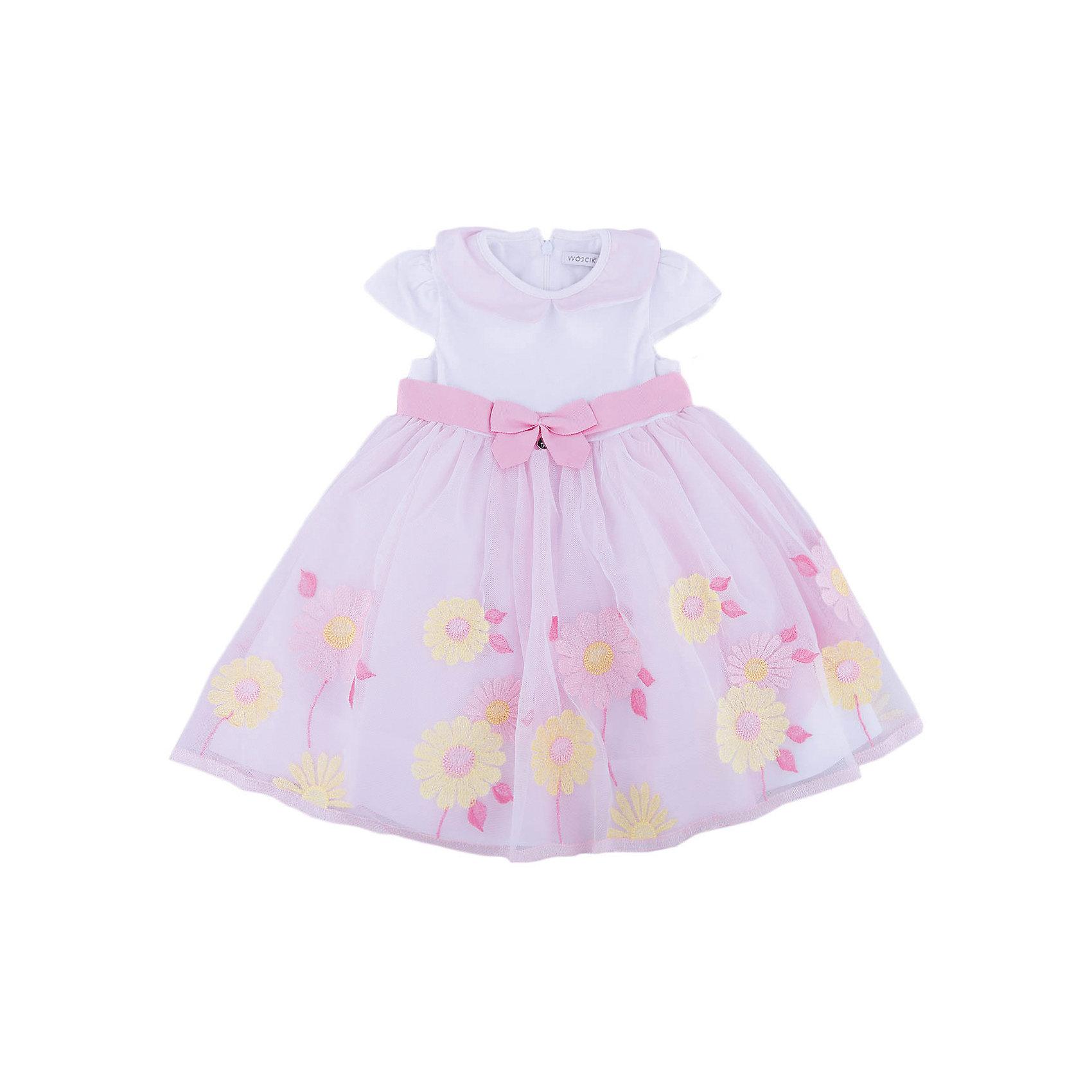 Платье для девочки WojcikПлатья и сарафаны<br>Платье для девочки Wojcik<br>Состав:<br>Полиэстер 72% Хлопок 20% Эластан 8%<br><br>Ширина мм: 236<br>Глубина мм: 16<br>Высота мм: 184<br>Вес г: 177<br>Цвет: розовый<br>Возраст от месяцев: 3<br>Возраст до месяцев: 6<br>Пол: Женский<br>Возраст: Детский<br>Размер: 68,92,74,80<br>SKU: 5588265