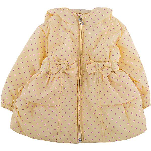 Куртка для девочки WojcikВерхняя одежда<br>Характеристики товара:<br><br>• цвет: желтый<br>• состав ткани: полиэстер<br>• длинные рукава<br>• капюшон<br>• температурный режим: от +10 до +20<br>• застежка: молния<br>• сезон: демисезон<br>• страна бренда: Польша<br>• страна изготовитель: Польша<br><br>Польская одежда для детей от бренда Войчик - это качественные и стильные вещи. Желтая куртка для девочки Войчик отличается модным кроем и актуальным в этом сезоне цветом. <br><br>Эта модель одежды для детей сделана из качественного материала, подкладка - из дышащего натурального хлопка. Куртка дополнена удобным капюшоном.<br><br>Куртку для девочки Wojcik (Войчик) можно купить в нашем интернет-магазине.<br><br>Ширина мм: 356<br>Глубина мм: 10<br>Высота мм: 245<br>Вес г: 519<br>Цвет: желтый<br>Возраст от месяцев: 3<br>Возраст до месяцев: 6<br>Пол: Женский<br>Возраст: Детский<br>Размер: 68,74<br>SKU: 5588300