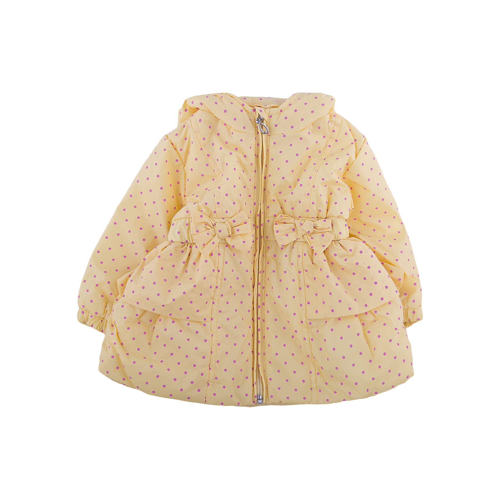 Куртка для девочки WojcikВерхняя одежда<br>Характеристики товара:<br><br>• цвет: желтый<br>• состав ткани: полиэстер<br>• длинные рукава<br>• капюшон<br>• температурный режим: от +10 до +20<br>• застежка: молния<br>• сезон: демисезон<br>• страна бренда: Польша<br>• страна изготовитель: Польша<br><br>Польская одежда для детей от бренда Войчик - это качественные и стильные вещи. Желтая куртка для девочки Войчик отличается модным кроем и актуальным в этом сезоне цветом. <br><br>Эта модель одежды для детей сделана из качественного материала, подкладка - из дышащего натурального хлопка. Куртка дополнена удобным капюшоном.<br><br>Куртку для девочки Wojcik (Войчик) можно купить в нашем интернет-магазине.<br><br>Ширина мм: 356<br>Глубина мм: 10<br>Высота мм: 245<br>Вес г: 519<br>Цвет: желтый<br>Возраст от месяцев: 6<br>Возраст до месяцев: 9<br>Пол: Женский<br>Возраст: Детский<br>Размер: 74,68<br>SKU: 5588300