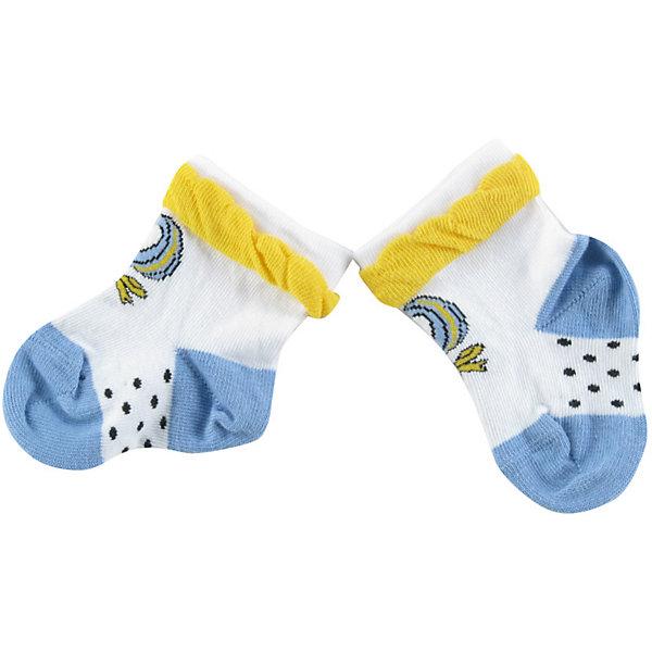 Носки для девочки WojcikНосочки и колготки<br>Характеристики товара:<br><br>• цвет: белый<br>• состав ткани: хлопок 93%, полиамид 5%, эластан 2%<br>• сезон: круглый год<br>• страна бренда: Польша<br>• страна изготовитель: Польша<br><br>Удобные и красивые носки для девочки Wojcik сделаны преимущественно из натурального хлопка. Он позволяет коже дышать и обеспечивает комфорт. <br><br>Детские носки не давят на ногу благодаря мягкой резинке. Польская одежда для детей от бренда Войчик - это качественные и стильные вещи.<br><br>Носки для девочки Wojcik (Войчик) можно купить в нашем интернет-магазине.<br><br>Ширина мм: 87<br>Глубина мм: 10<br>Высота мм: 105<br>Вес г: 115<br>Цвет: белый<br>Возраст от месяцев: 6<br>Возраст до месяцев: 9<br>Пол: Женский<br>Возраст: Детский<br>Размер: 18/19,16/17<br>SKU: 5588352