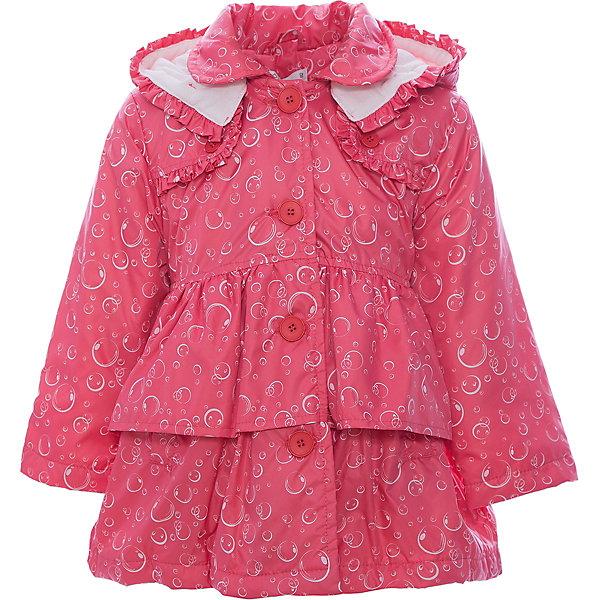 Куртка для девочки WojcikВерхняя одежда<br>Характеристики товара:<br><br>• цвет: розовый<br>• состав ткани: 100% полиэстер <br>• сезон: демисезон<br>• особенности модели: с капюшоном<br>• застежка: пуговицы<br>• длинные рукава<br>• страна бренда: Польша<br>• страна изготовитель: Польша<br><br>Эта легкая куртка для девочки Войчик отличается модным кроем и актуальным в этом сезоне цветом. Подкладка из хлопка, легкая степень утепления. Детская куртка декорирована рюшами. Куртка для детей - удобная и стильная. Польская детская одежда для детей от бренда Wojcik - это качественные и стильные вещи. <br><br>Куртку для девочки Wojcik (Войчик) можно купить в нашем интернет-магазине.<br>Ширина мм: 356; Глубина мм: 10; Высота мм: 245; Вес г: 519; Цвет: розовый; Возраст от месяцев: 6; Возраст до месяцев: 9; Пол: Женский; Возраст: Детский; Размер: 74,68,98,92,86,80; SKU: 5588358;
