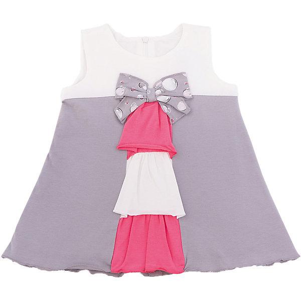 Платье для девочки WojcikПлатья и сарафаны<br>Характеристики товара:<br><br>• цвет: серый<br>• состав ткани: 94% хлопок, 6% эластан <br>• сезон: лето<br>• застежка: молния<br>• без рукавов<br>• страна бренда: Польша<br>• страна изготовитель: Польша<br><br>Модное платье для детей сделано из качественного материала. Удобное платье для девочки Войчик легко надевается благодаря молнии. Детское платье декорировано бантом и оригинально оформленной планкой. Бренд Wojcik - это польская детская одежда отличного качества по доступной цене. <br><br>Платье для девочки Wojcik (Войчик) можно купить в нашем интернет-магазине.<br>Ширина мм: 236; Глубина мм: 16; Высота мм: 184; Вес г: 177; Цвет: белый; Возраст от месяцев: 3; Возраст до месяцев: 6; Пол: Женский; Возраст: Детский; Размер: 68,80; SKU: 5588379;
