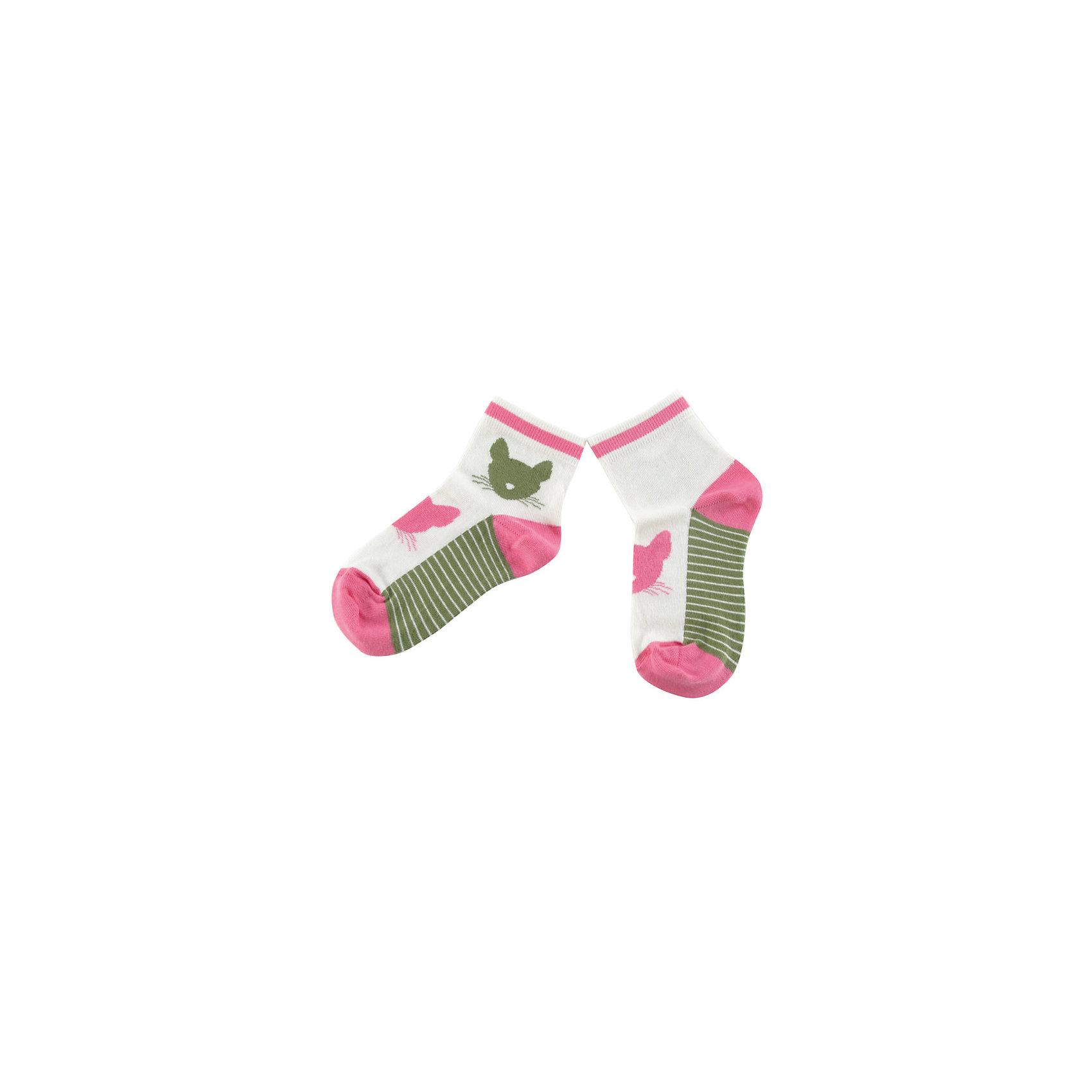 Носки для девочки WojcikНоски<br>Характеристики товара:<br><br>• цвет: белый<br>• состав ткани :хлопок 93%, полиамид 5%, эластан 2%<br>• сезон: круглый год<br>• страна бренда: Польша<br>• страна изготовитель: Польша<br><br>Удобные носки для девочки Wojcik сделаны преимущественно из натурального хлопка. Он позволяет коже дышать и обеспечивает комфорт. <br><br>Детские носки не давят на ногу благодаря мягкой резинке. Польская одежда для детей от бренда Войчик - это качественные и стильные вещи.<br><br>Носки для девочки Wojcik (Войчик) можно купить в нашем интернет-магазине.<br><br>Ширина мм: 87<br>Глубина мм: 10<br>Высота мм: 105<br>Вес г: 115<br>Цвет: белый<br>Возраст от месяцев: 3<br>Возраст до месяцев: 6<br>Пол: Женский<br>Возраст: Детский<br>Размер: 17/18,21/22<br>SKU: 5588472