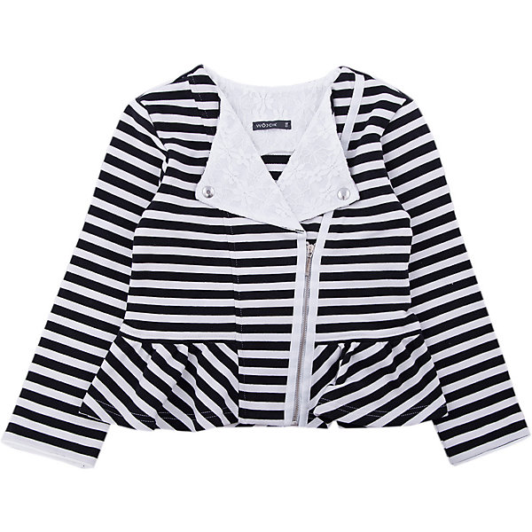 Куртка для девочки WojcikВерхняя одежда<br>Характеристики товара:<br><br>• цвет: белый<br>• состав ткани: 97% хлопок, 3% эластан <br>• сезон: демисезон<br>• застежка: молния<br>• длинные рукава<br>• страна бренда: Польша<br>• страна изготовитель: Польша<br><br>Полосатая куртка для девочки Войчик отличается модным кроем и актуальным в этом сезоне цветом. Детская куртка удобно застегивается. Куртка для детей - удобная и стильная. Польская детская одежда для детей от бренда Wojcik - это качественные и стильные вещи. <br><br>Куртку для девочки Wojcik (Войчик) можно купить в нашем интернет-магазине.<br>Ширина мм: 356; Глубина мм: 10; Высота мм: 245; Вес г: 519; Цвет: белый; Возраст от месяцев: 60; Возраст до месяцев: 72; Пол: Женский; Возраст: Детский; Размер: 116; SKU: 5588517;
