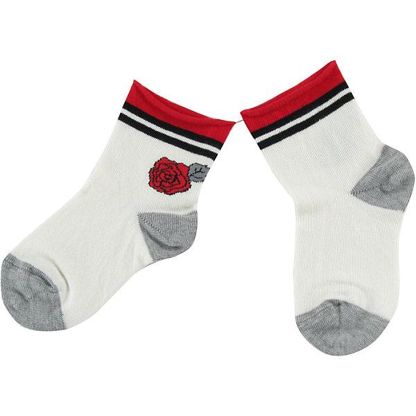 Носки для девочки WojcikНоски<br>Характеристики товара:<br><br>• цвет: белый<br>• состав ткани: хлопок 93%, полиамид 5%, эластан 2%<br>• сезон: круглый год<br>• страна бренда: Польша<br>• страна изготовитель: Польша<br><br>Красивые и удобные носки для девочки Wojcik сделаны преимущественно из натурального хлопка. Он позволяет коже дышать и обеспечивает комфорт. <br><br>Детские носки не давят на ногу благодаря мягкой резинке. Польская одежда для детей от бренда Войчик - это качественные и стильные вещи.<br><br>Носки для девочки Wojcik (Войчик) можно купить в нашем интернет-магазине.<br><br>Ширина мм: 87<br>Глубина мм: 10<br>Высота мм: 105<br>Вес г: 115<br>Цвет: белый<br>Возраст от месяцев: 3<br>Возраст до месяцев: 6<br>Пол: Женский<br>Возраст: Детский<br>Размер: 17/18,19/20<br>SKU: 5588523