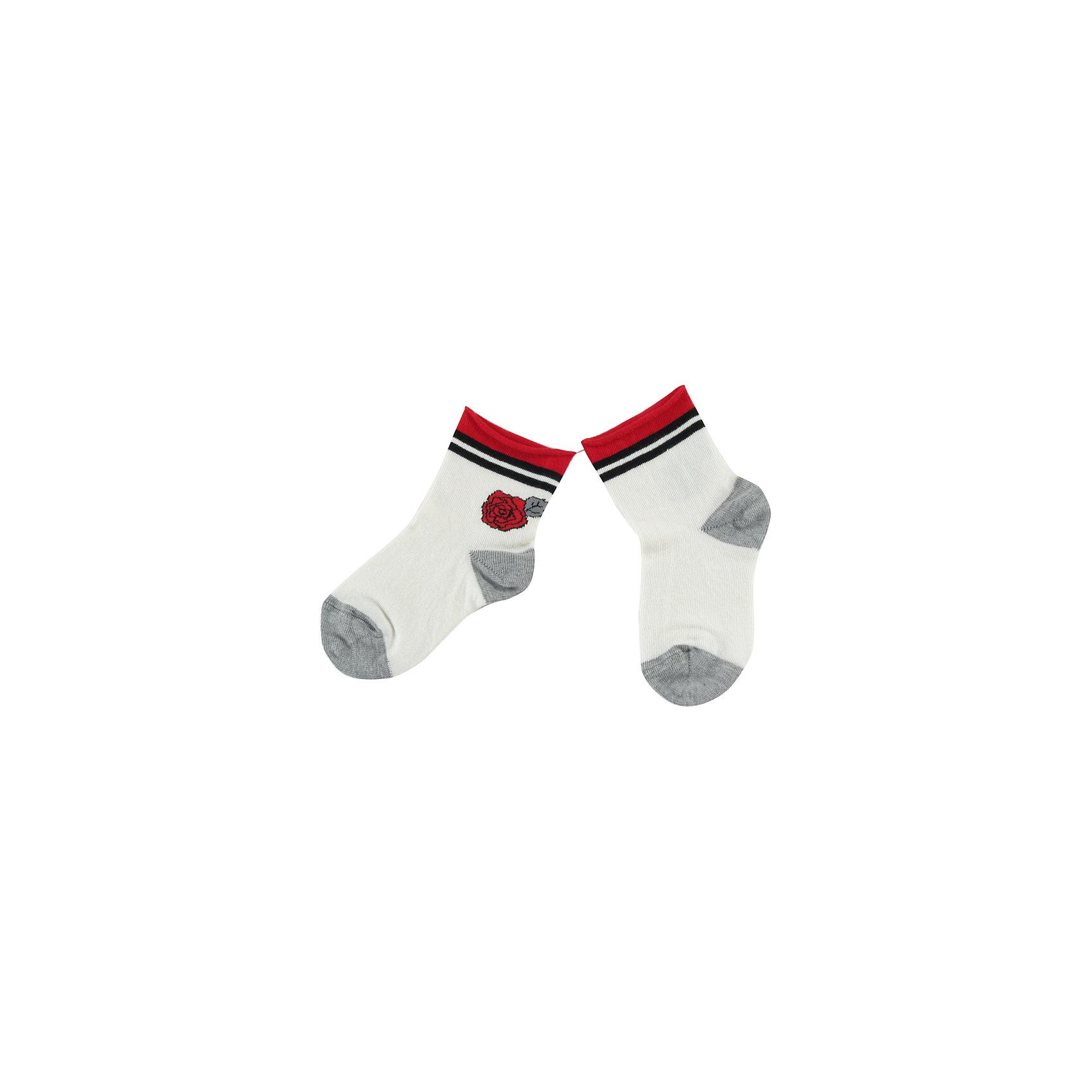 Носки для девочки WojcikНоски<br>Характеристики товара:<br><br>• цвет: белый<br>• состав ткани: хлопок 93%, полиамид 5%, эластан 2%<br>• сезон: круглый год<br>• страна бренда: Польша<br>• страна изготовитель: Польша<br><br>Красивые и удобные носки для девочки Wojcik сделаны преимущественно из натурального хлопка. Он позволяет коже дышать и обеспечивает комфорт. <br><br>Детские носки не давят на ногу благодаря мягкой резинке. Польская одежда для детей от бренда Войчик - это качественные и стильные вещи.<br><br>Носки для девочки Wojcik (Войчик) можно купить в нашем интернет-магазине.<br><br>Ширина мм: 87<br>Глубина мм: 10<br>Высота мм: 105<br>Вес г: 115<br>Цвет: кремовый<br>Возраст от месяцев: 6<br>Возраст до месяцев: 12<br>Пол: Женский<br>Возраст: Детский<br>Размер: 19/20,17/18<br>SKU: 5588523