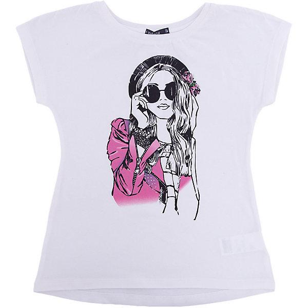 Футболка для девочки WojcikФутболки, поло и топы<br>Характеристики товара:<br><br>• цвет: кремовый<br>• состав ткани: 95% хлопок, 5% эластан<br>• сезон: лето<br>• короткие рукава<br>• страна бренда: Польша<br>• страна изготовитель: Польша<br><br>Эта футболка для девочки Войчик легко надевается. Трикотажная футболка для детей сделана из мягкого дышащего материала. Детская футболка декорирована модным принтом. Бренд Wojcik - это польская детская одежда отличного качества по доступной цене. <br><br>Футболку для девочки Wojcik (Войчик) можно купить в нашем интернет-магазине.<br><br>Ширина мм: 199<br>Глубина мм: 10<br>Высота мм: 161<br>Вес г: 151<br>Цвет: кремовый<br>Возраст от месяцев: 72<br>Возраст до месяцев: 84<br>Пол: Женский<br>Возраст: Детский<br>Размер: 122<br>SKU: 5588621