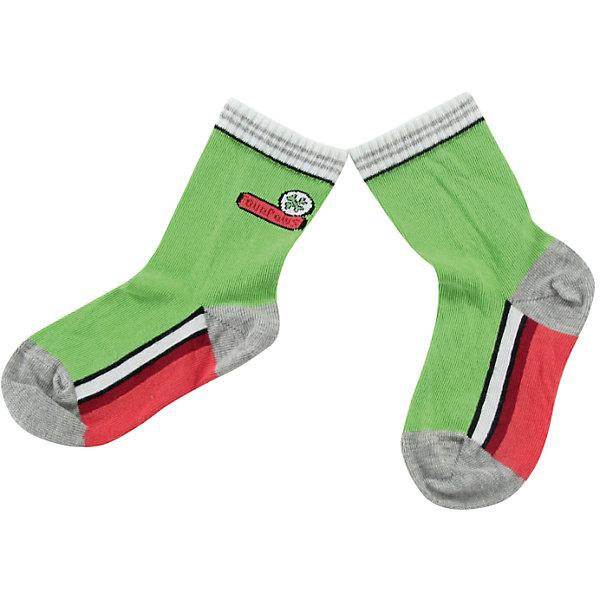 Носки для мальчика WojcikНоски<br>Характеристики товара:<br><br>• цвет: зеленый<br>• состав ткани: 93% хлопок, 5% полиамид, 2% эластан <br>• сезон: круглый год<br>• страна бренда: Польша<br>• страна изготовитель: Польша<br><br>Эти носки для детей - мягкие и комфортные. Трикотажные носки для мальчика Wojcik не давят на ногу благодаря мягкой резинке. Одежда и аксессуары для детей из Польши от бренда Wojcik отличается хорошим качеством и стилем. <br><br>Носки для мальчика Wojcik (Войчик) можно купить в нашем интернет-магазине.<br><br>Ширина мм: 87<br>Глубина мм: 10<br>Высота мм: 105<br>Вес г: 115<br>Цвет: зеленый<br>Возраст от месяцев: 0<br>Возраст до месяцев: 5<br>Пол: Мужской<br>Возраст: Детский<br>Размер: 16/17<br>SKU: 5588739