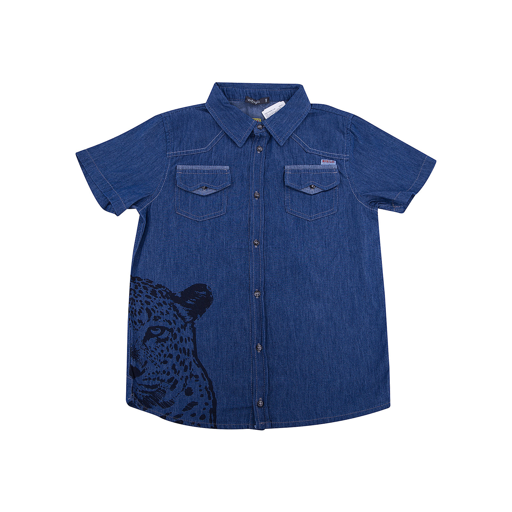 Рубашка для мальчика WojcikБлузки и рубашки<br>Рубашка для мальчика Wojcik<br>Состав:<br>Хлопок 100%<br><br>Ширина мм: 174<br>Глубина мм: 10<br>Высота мм: 169<br>Вес г: 157<br>Цвет: синий<br>Возраст от месяцев: 120<br>Возраст до месяцев: 132<br>Пол: Мужской<br>Возраст: Детский<br>Размер: 134,146,140,128,122,116,110<br>SKU: 5588793
