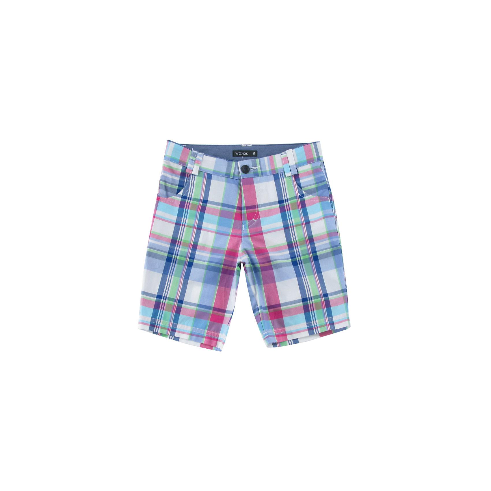 Шорты для мальчика WojcikШорты, бриджи, капри<br>Характеристики товара:<br><br>• цвет: голубой<br>• состав ткани: хлопок 100%<br>• шлевки для ремня<br>• сезон: лето<br>• карманы<br>• страна бренда: Польша<br>• страна изготовитель: Польша<br><br>Легкие летние шорты для мальчика Войчик отличаются модным кроем и актуальным в этом сезоне цветом. Яркие шорты для мальчика Wojcik - удобная и модная одежда для теплого времени года. <br><br>Эта модель одежды для детей сделана из качественного материала - дышащего натурального хлопка. Польская одежда для детей от бренда Войчик - это качественные и стильные вещи.<br><br>Шорты для мальчика Wojcik (Войчик) можно купить в нашем интернет-магазине.<br><br>Ширина мм: 191<br>Глубина мм: 10<br>Высота мм: 175<br>Вес г: 273<br>Цвет: белый<br>Возраст от месяцев: 72<br>Возраст до месяцев: 84<br>Пол: Мужской<br>Возраст: Детский<br>Размер: 122<br>SKU: 5588836