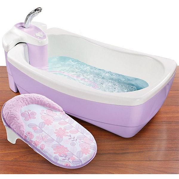 Ванна LilLuxuries, Summer Infant, сиреневыйТовары для купания<br>Характеристики товара:<br><br>• возраст: с рождения;<br>• материал: пластик;<br>• размер ванночки: 73х46х25 см;<br>• размер упаковки: 73х46х25 см;<br>• вес упаковки: 4,6 кг;<br>• страна производитель: Китай.<br><br>Ванна LilLuxuries Summer Infant сиреневая — настоящая ванна-джакузи для малышей с первых дней жизни. Специальный моторчик создает пузыри и вибрации в воде. Для самых маленьких в комплекте предусмотрена мягкая вставка с подголовником. Ванночка оснащена съемным душевым блоком. Подача воды осуществляется простым нажатием кнопки включения. Душевой блок может в последствии использоваться в обычной ванне. Функция создания пузырей работает от батареек (в комплект не входят).<br><br>Ванну LilLuxuries Summer Infant сиреневую можно приобрести в нашем интернет-магазине.<br><br>Ширина мм: 730<br>Глубина мм: 460<br>Высота мм: 250<br>Вес г: 4600<br>Возраст от месяцев: 0<br>Возраст до месяцев: 24<br>Пол: Женский<br>Возраст: Детский<br>SKU: 5589110