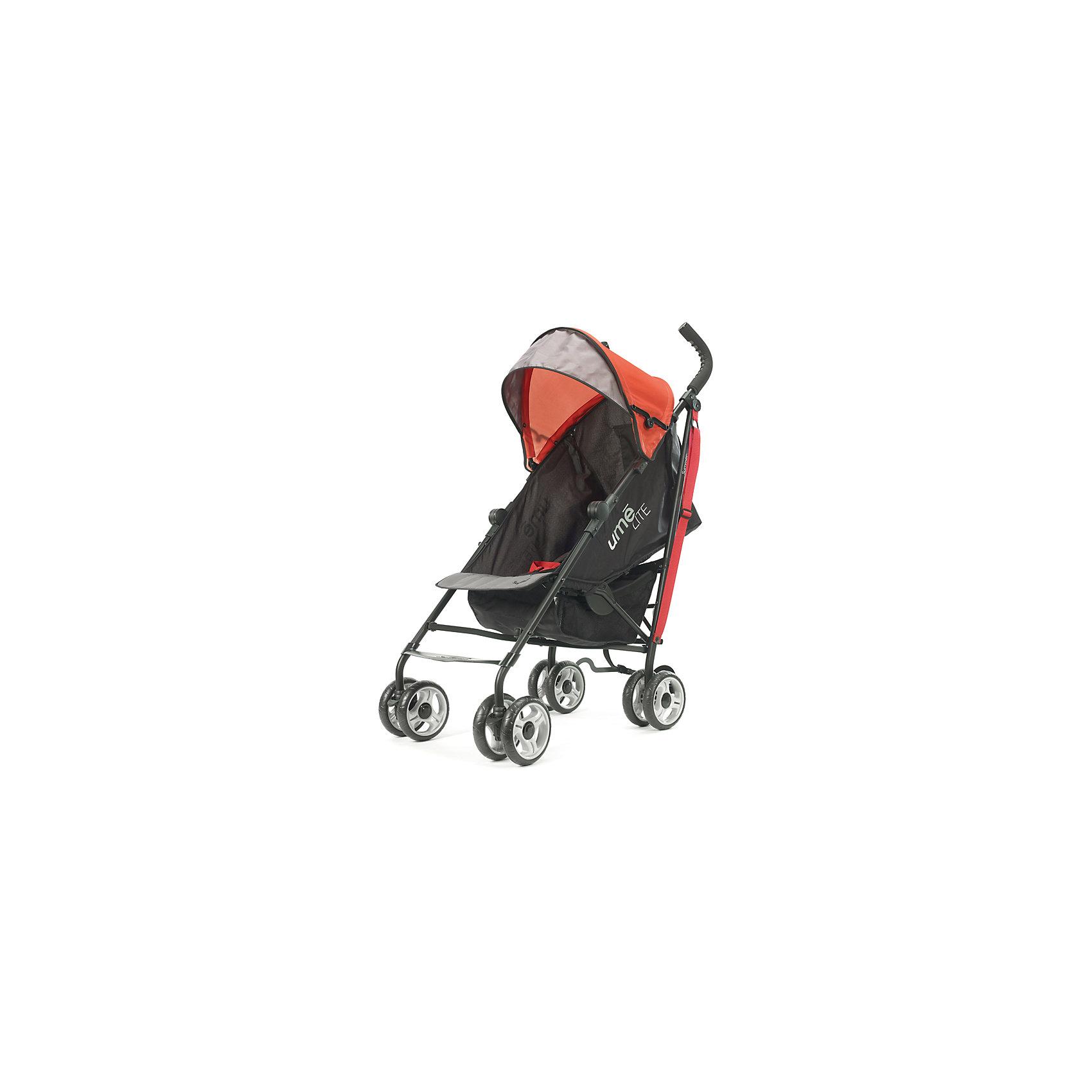 Коляска-трость Summer Infant Ume Lite, черно-красныйНедорогие коляски<br>Характеристики коляски:<br><br>• возраст: от 6 месяцев;<br>• материал: алюминий, пластик, полиэстер;<br>• регулировка наклона спинки в 3 положениях;<br>• регулируемые 5-ти точечные ремни безопасности;<br>• тип колес: все сдвоенные, передние поворотные с фиксацией;<br>• материал колес: резиновые;<br>• тип складывания: трость;<br>• вес коляски: 5,8 кг;<br>• размер упаковки: 104х32,5х24,5 см;<br>• вес упаковки: 7,8 кг;<br>• страна производитель: Китай.<br><br>Комплектация:<br><br>• коляска;<br>• корзина для покупок;<br>• инструкция.<br><br>Коляска-трость Ume Lite Summer Infant черно-красная — легкая и маневренная коляска для летних прогулок по городу, парку и поездок на природу. Спинка сидения наклоняется в 3 положениях, позволяя крохе отдохнуть и поспать на прогулке. Капюшон выполнен из ткани, не пропускающей влагу и защищающей от УФ-лучей. На задней стенке капюшона имеется вместительный карман для мелочей. Благодаря сдвоенным колесам и прочной раме коляска отличается хорошей устойчивостью и не опрокидывается. В сложенном виде удобно переносить коляску при помощи регулируемого ремешка.<br><br>Коляску-трость Ume Lite Summer Infant черно-красную можно приобрести в нашем интернет-магазине.<br><br>Ширина мм: 1040<br>Глубина мм: 325<br>Высота мм: 245<br>Вес г: 7800<br>Возраст от месяцев: 6<br>Возраст до месяцев: 36<br>Пол: Унисекс<br>Возраст: Детский<br>SKU: 5589111