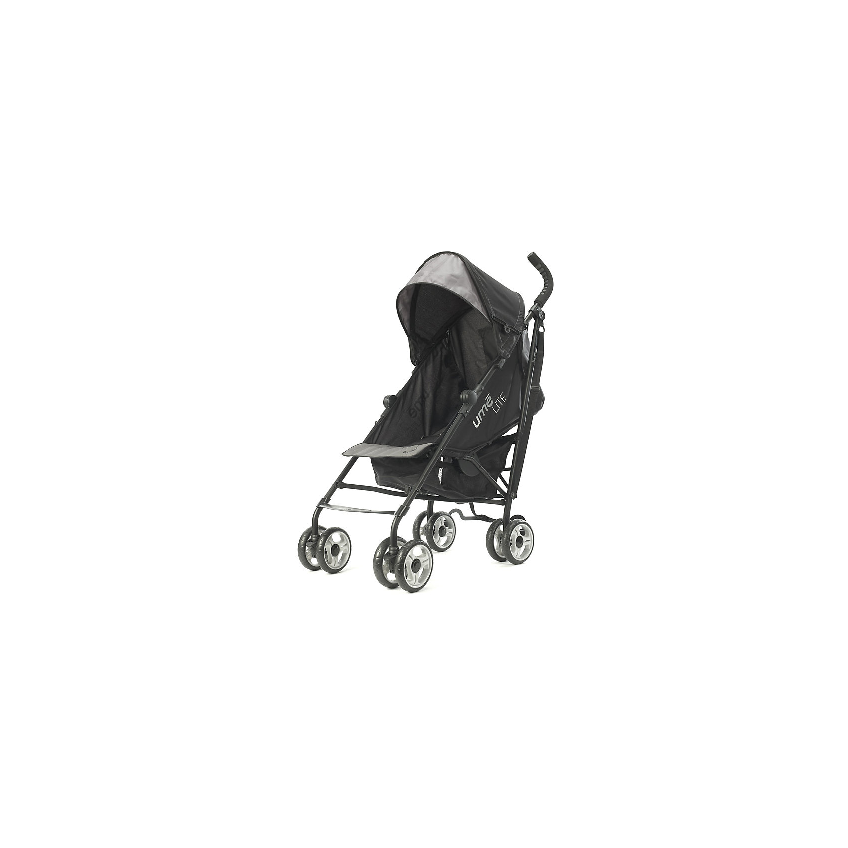 Коляска-трость Ume Lite, Summer Infant, черно-серыйКоляски-трости<br>Характеристики коляски:<br><br>• возраст: от 6 месяцев;<br>• материал: алюминий, пластик, полиэстер;<br>• регулировка наклона спинки в 3 положениях;<br>• регулируемые 5-ти точечные ремни безопасности;<br>• тип колес: все сдвоенные, передние поворотные с фиксацией;<br>• материал колес: резиновые;<br>• тип складывания: трость;<br>• вес коляски: 5,8 кг;<br>• размер упаковки: 104х32,5х24,5 см;<br>• вес упаковки: 7,8 кг;<br>• страна производитель: Китай.<br><br>Комплектация:<br><br>• коляска;<br>• корзина для покупок;<br>• инструкция.<br><br>Коляска-трость Ume Lite Summer Infant черно-серая — легкая и маневренная коляска для летних прогулок по городу, парку и поездок на природу. Спинка сидения наклоняется в 3 положениях, позволяя крохе отдохнуть и поспать на прогулке. Капюшон выполнен из ткани, не пропускающей влагу и защищающей от УФ-лучей. На задней стенке капюшона имеется вместительный карман для мелочей. Благодаря сдвоенным колесам и прочной раме коляска отличается хорошей устойчивостью и не опрокидывается. В сложенном виде удобно переносить коляску при помощи регулируемого ремешка.<br><br>Коляску-трость Ume Lite Summer Infant черно-серую можно приобрести в нашем интернет-магазине.<br><br>Ширина мм: 1040<br>Глубина мм: 325<br>Высота мм: 245<br>Вес г: 7800<br>Возраст от месяцев: 6<br>Возраст до месяцев: 36<br>Пол: Унисекс<br>Возраст: Детский<br>SKU: 5589112