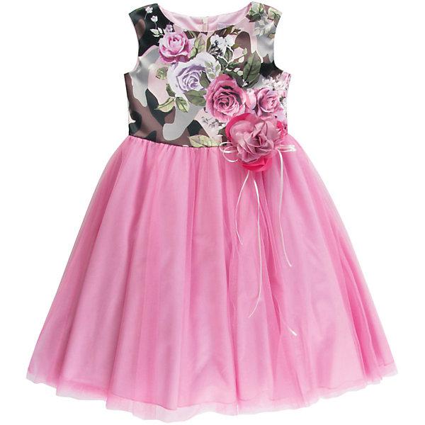 Платье для девочки WojcikОдежда<br>Характеристики товара:<br><br>• цвет: розовый<br>• состав ткани: 100% полиэстер<br>• сезон: лето<br>• особенности модели: нарядная<br>• застежка: молния<br>• без рукавов<br>• страна бренда: Польша<br>• страна изготовитель: Польша<br><br>Пышное стильное платье для детей сделано из качественного материала. Нарядное платье для девочки Войчик легко надевается. Детское платье декорировано принтом и текстильными цветами. Популярный бренд Wojcik - это польская детская одежда отличного качества по доступной цене. <br><br>Платье для девочки Wojcik (Войчик) можно купить в нашем интернет-магазине.<br><br>Ширина мм: 236<br>Глубина мм: 16<br>Высота мм: 184<br>Вес г: 177<br>Цвет: розовый<br>Возраст от месяцев: 108<br>Возраст до месяцев: 120<br>Пол: Женский<br>Возраст: Детский<br>Размер: 140<br>SKU: 5589551