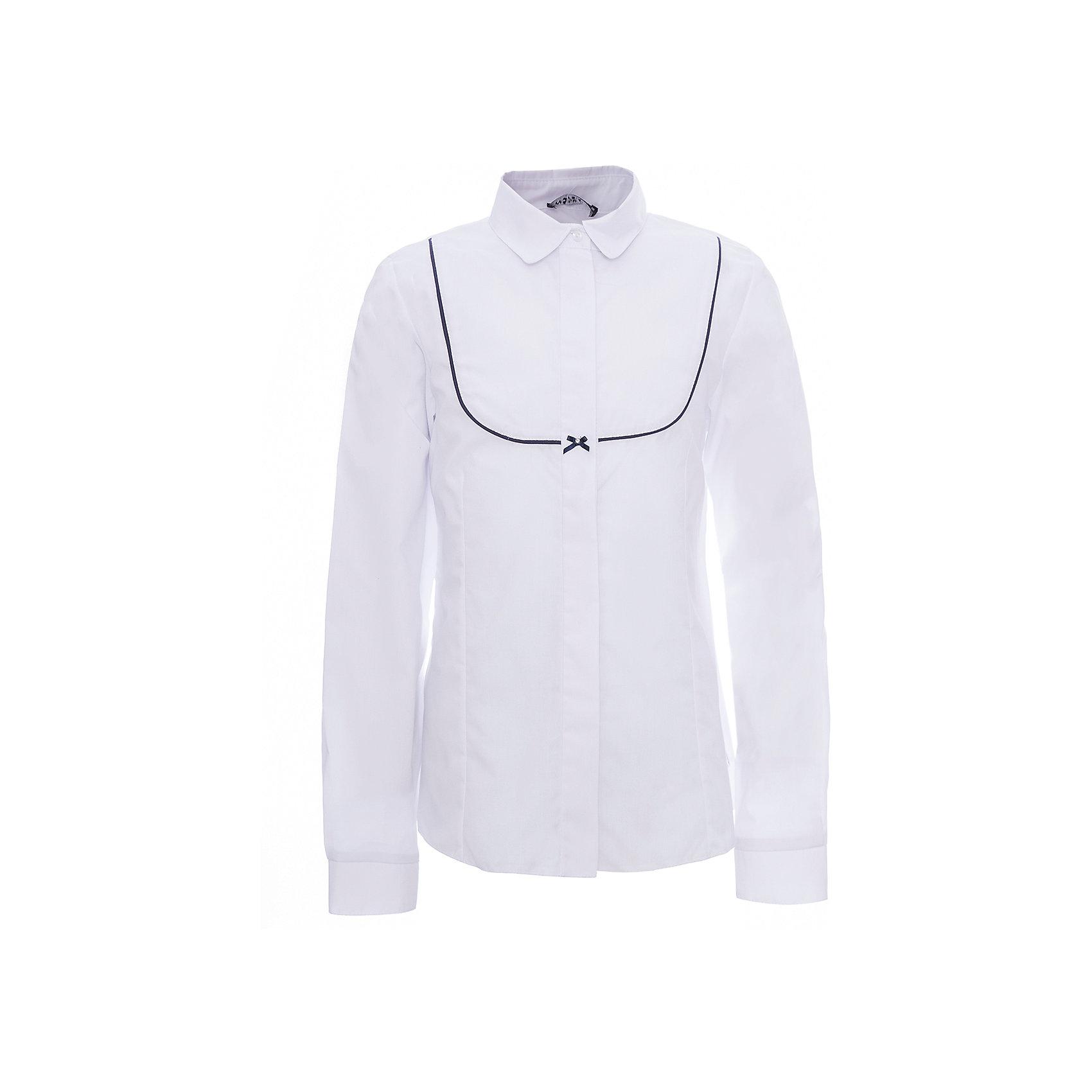Рубашка для девочки WojcikБлузки и рубашки<br>Характеристики товара:<br><br>• цвет: белый<br>• состав ткани: хлопок 65%, полиэстер 35%<br>• особенности: школьная, нарядная<br>• отложной воротник<br>• застежка: кнопки<br>• длинные рукава<br>• сезон: круглый год<br>• страна бренда: Польша<br>• страна изготовитель: Польша<br><br>Рубашка для девочки Wojcik - удобная и модная школьная одежда. Польская одежда для детей от бренда Войчик - это качественные и стильные вещи.<br><br>Эта модель одежды для школы сделана из качественного материала с преобладанием хлопка в составе. Белая рубашка для девочки Войчик декорирована принтом.<br><br>Рубашку для девочки Wojcik (Войчик) можно купить в нашем интернет-магазине.<br><br>Ширина мм: 190<br>Глубина мм: 74<br>Высота мм: 229<br>Вес г: 236<br>Цвет: белый<br>Возраст от месяцев: 60<br>Возраст до месяцев: 72<br>Пол: Женский<br>Возраст: Детский<br>Размер: 116,122,128,134,140,146,152,158<br>SKU: 5589563