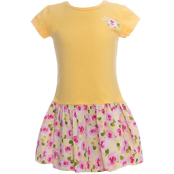 Платье для девочки WojcikПлатья и сарафаны<br>Характеристики товара:<br><br>• цвет: желтый<br>• состав ткани: хлопок 95%, эластан 5%<br>• комбинированный материал<br>• сезон: лето<br>• короткие рукава<br>• страна бренда: Польша<br>• страна изготовитель: Польша<br><br>Желтое платье для девочки Войчик отличается модным кроем с пышным подолом. Яркое платье для девочки Wojcik - удобная и модная одежда для теплого времени года. <br><br>Эта модель одежды для детей сделана из качественного материала с преобладание дышащего натурального хлопка в составе. Польская одежда для детей от бренда Войчик - это качественные и стильные вещи.<br><br>Платье для девочки Wojcik (Войчик) можно купить в нашем интернет-магазине.<br><br>Ширина мм: 236<br>Глубина мм: 16<br>Высота мм: 184<br>Вес г: 177<br>Цвет: желтый<br>Возраст от месяцев: 36<br>Возраст до месяцев: 48<br>Пол: Женский<br>Возраст: Детский<br>Размер: 104,116<br>SKU: 5589635