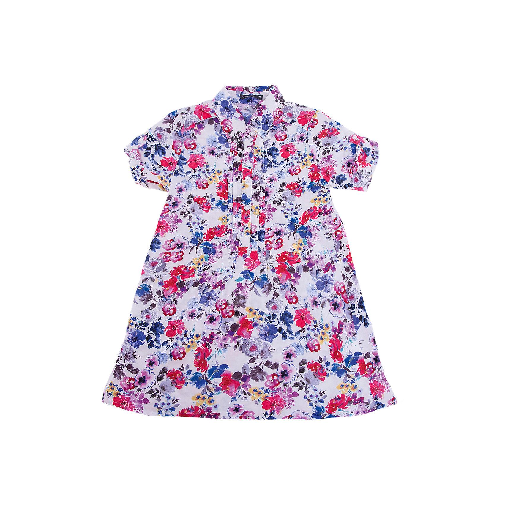 Рубашка для девочки WojcikБлузки и рубашки<br>Характеристики товара:<br><br>• цвет: мульти<br>• состав ткани: вискоза<br>• короткие рукава<br>• застежка: пуговицы<br>• сезон: лето<br>• страна бренда: Польша<br>• страна изготовитель: Польша<br><br>Польская одежда для детей от бренда Войчик - это качественные и стильные вещи. Рубашка для девочки для девочки Войчик отличаются модным кроем и универсальным цветом. <br><br>Легкая детская рубашка сделана из качественного материала. Рубашка для девочки Wojcik - удобная и модная одежда для теплого времени года. <br><br>Рубашку для девочки Wojcik (Войчик) можно купить в нашем интернет-магазине.<br><br>Ширина мм: 174<br>Глубина мм: 10<br>Высота мм: 169<br>Вес г: 157<br>Цвет: белый<br>Возраст от месяцев: 84<br>Возраст до месяцев: 96<br>Пол: Женский<br>Возраст: Детский<br>Размер: 128,104,110,116,122<br>SKU: 5589955
