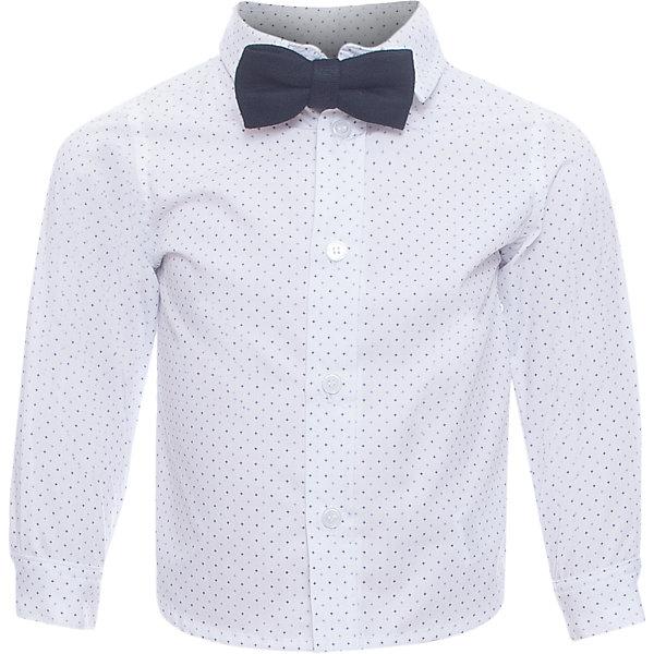 Рубашка для мальчика WojcikБлузки и рубашки<br>Характеристики товара:<br><br>• цвет: белый<br>• состав ткани: хлопок<br>• особенности: школьная, нарядная<br>• отложной воротник<br>• застежка: пуговицы<br>• длинные рукава<br>• сезон: круглый год<br>• страна бренда: Польша<br>• страна изготовитель: Польша<br><br>Белая рубашка для мальчика Wojcik - удобная и модная школьная одежда. Польская одежда для детей от бренда Войчик - это качественные и стильные вещи.<br><br>Эта модель одежды для школы сделана из качественного материала с преобладанием хлопка в составе. Белая рубашка для мальчика Войчик декорирована принтом.<br><br>Рубашку для мальчика Wojcik (Войчик) можно купить в нашем интернет-магазине.<br><br>Ширина мм: 174<br>Глубина мм: 10<br>Высота мм: 169<br>Вес г: 157<br>Цвет: белый<br>Возраст от месяцев: 12<br>Возраст до месяцев: 18<br>Пол: Мужской<br>Возраст: Детский<br>Размер: 86,80<br>SKU: 5589961