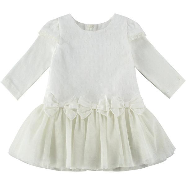 Платье для девочки WojcikПлатья<br>Характеристики товара:<br><br>• цвет: кремовый<br>• состав ткани: 50% полиэстер, 50% хлопок<br>• сезон: демисезон<br>• особенности модели: нарядная<br>• застежка: молния<br>• длинные рукава<br>• страна бренда: Польша<br>• страна изготовитель: Польша<br><br>Известный бренд Wojcik - это польская детская одежда отличного качества по доступной цене. Нарядное детское платье декорировано бантами. Это платье для детей сделано из качественного материала. Такое платье для девочки Войчик легко надевается. <br><br>Платье для девочки Wojcik (Войчик) можно купить в нашем интернет-магазине.<br><br>Ширина мм: 236<br>Глубина мм: 16<br>Высота мм: 184<br>Вес г: 177<br>Цвет: кремовый<br>Возраст от месяцев: 18<br>Возраст до месяцев: 24<br>Пол: Женский<br>Возраст: Детский<br>Размер: 92,98,86,80,74,68<br>SKU: 5590045