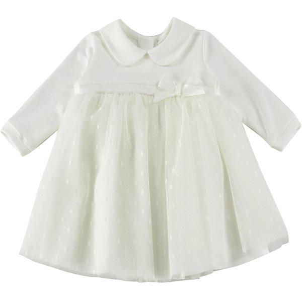 Платье для девочки WojcikПлатья<br>Характеристики товара:<br><br>• цвет: кремовый<br>• состав ткани: 78% хлопок, 20% полиэстер, 2% эластан<br>• сезон: демисезон<br>• особенности модели: нарядная<br>• застежка: молния<br>• длинные рукава<br>• страна бренда: Польша<br>• страна изготовитель: Польша<br><br>Популярный бренд Wojcik - это польская детская одежда отличного качества по доступной цене. Нарядное детское платье декорировано бантом. Это платье для детей сделано из качественного материала. Такое платье для девочки Войчик легко надевается. <br><br>Платье для девочки Wojcik (Войчик) можно купить в нашем интернет-магазине.<br><br>Ширина мм: 236<br>Глубина мм: 16<br>Высота мм: 184<br>Вес г: 177<br>Цвет: кремовый<br>Возраст от месяцев: 3<br>Возраст до месяцев: 6<br>Пол: Женский<br>Возраст: Детский<br>Размер: 68,98,92,86,80,74<br>SKU: 5590053
